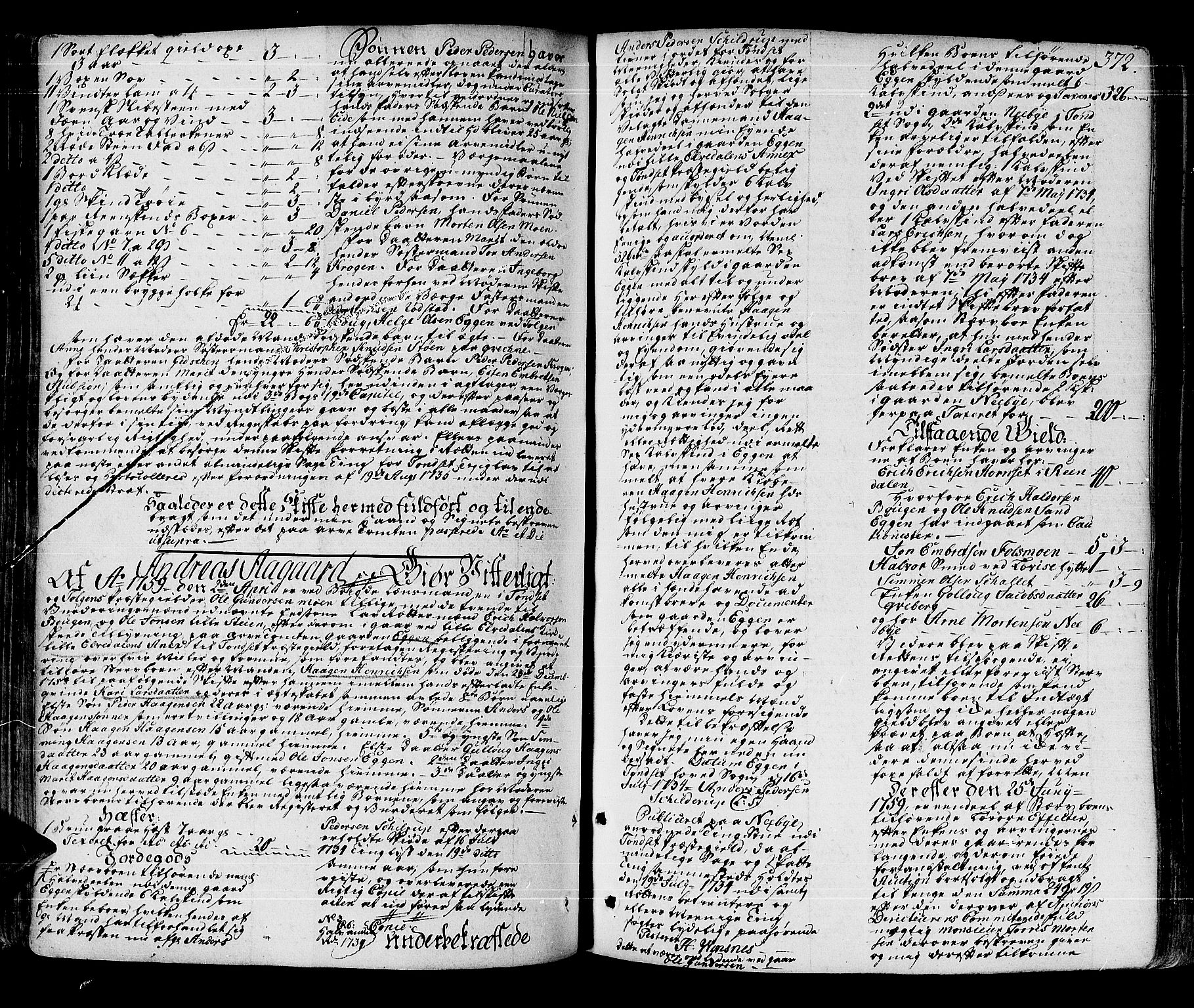 SAH, Solør og Østerdalen sorenskriveri, J/Ja/L0012A: Skifteprotokoll, 1757-1764, s. 371b-372a