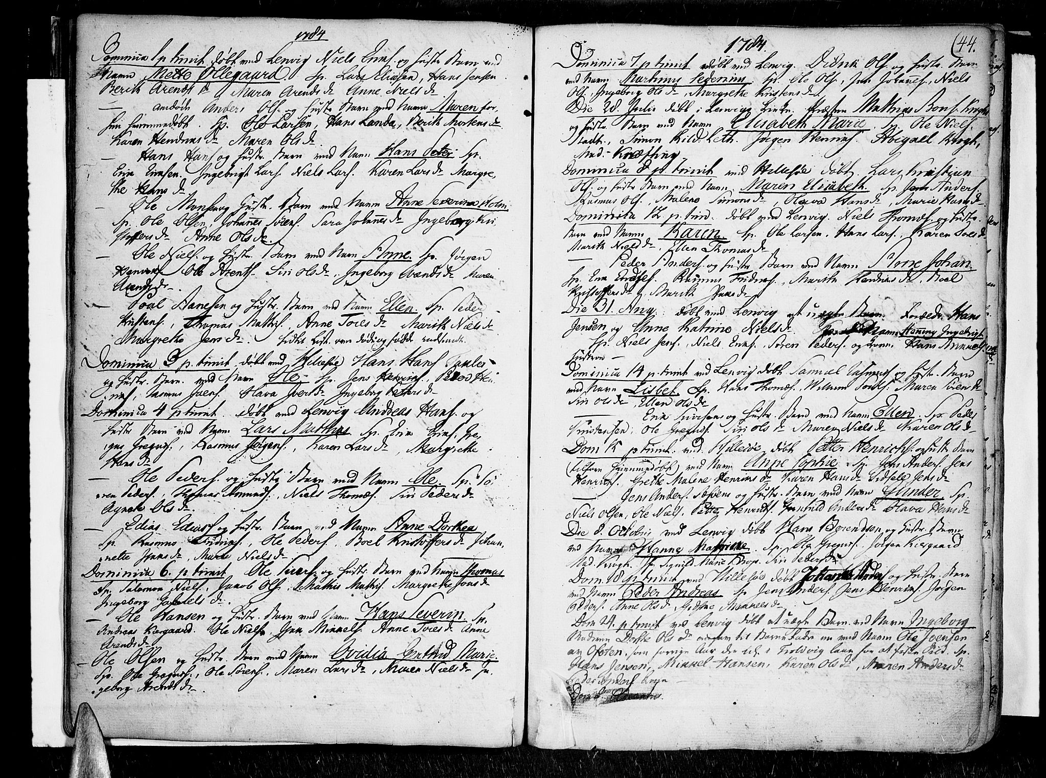 SATØ, Lenvik sokneprestembete, H/Ha/Haa/L0002kirke: Ministerialbok nr. 2, 1784-1820, s. 44