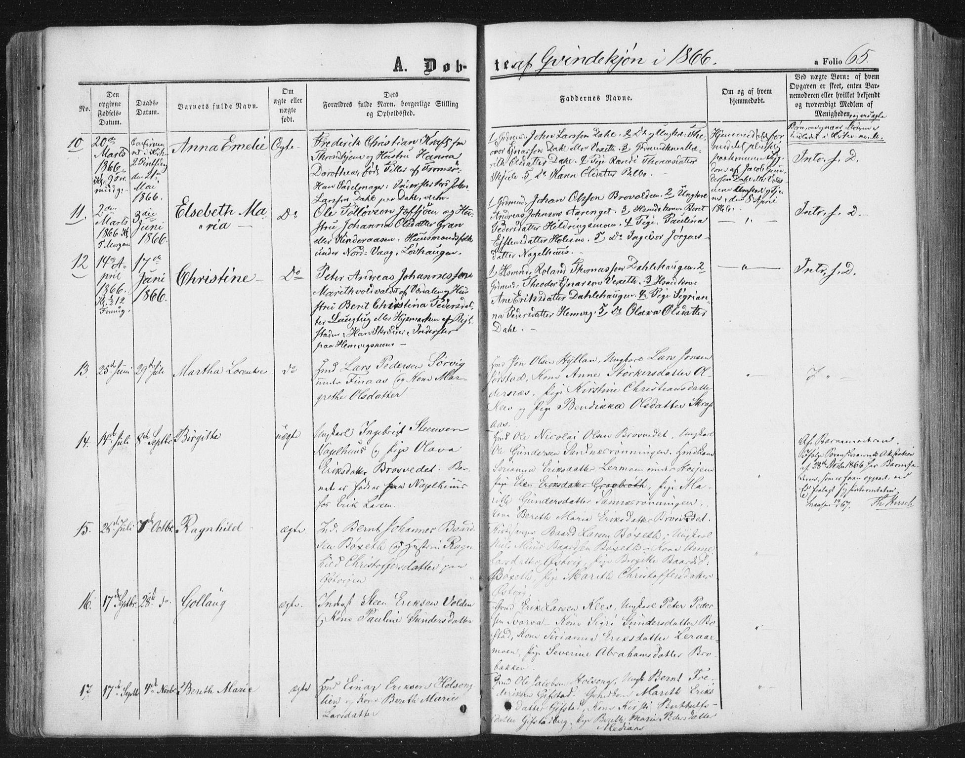 SAT, Ministerialprotokoller, klokkerbøker og fødselsregistre - Nord-Trøndelag, 749/L0472: Ministerialbok nr. 749A06, 1857-1873, s. 65