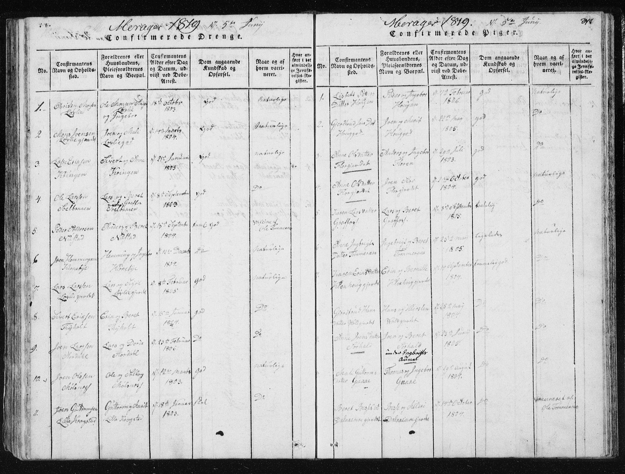 SAT, Ministerialprotokoller, klokkerbøker og fødselsregistre - Nord-Trøndelag, 709/L0061: Ministerialbok nr. 709A08 /4, 1815-1819, s. 278