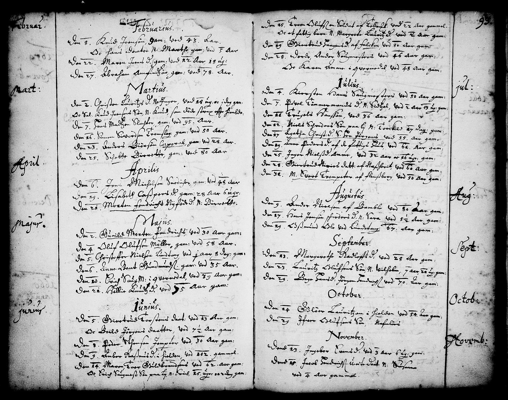 SAKO, Skien kirkebøker, F/Fa/L0001: Ministerialbok nr. 1, 1659-1679, s. 93