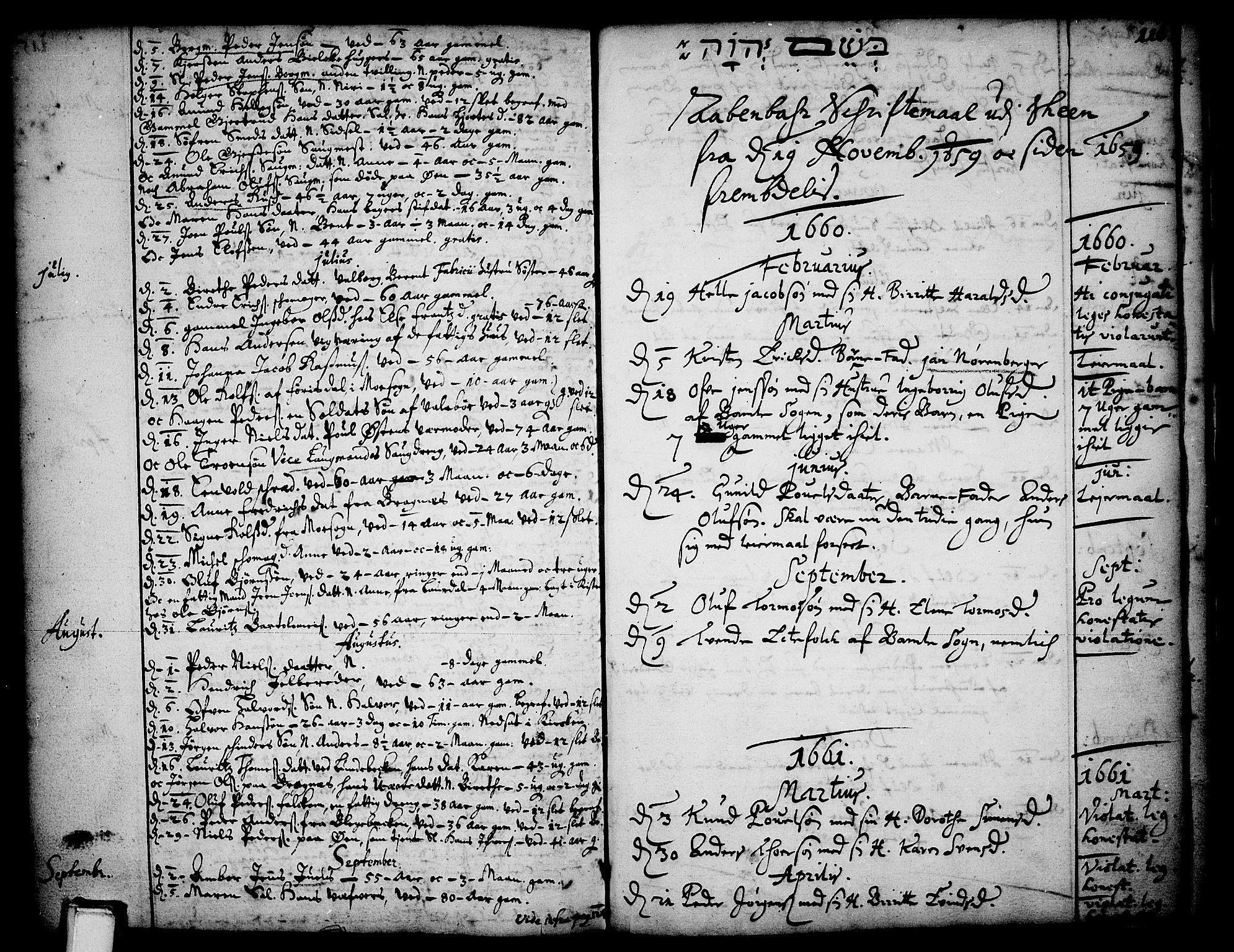 SAKO, Skien kirkebøker, F/Fa/L0001: Ministerialbok nr. 1, 1659-1679, s. 116