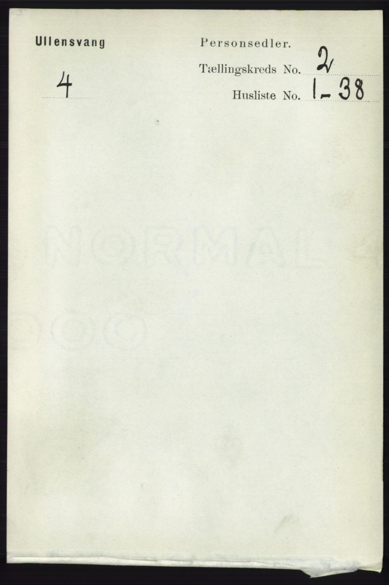 RA, Folketelling 1891 for 1230 Ullensvang herred, 1891, s. 320