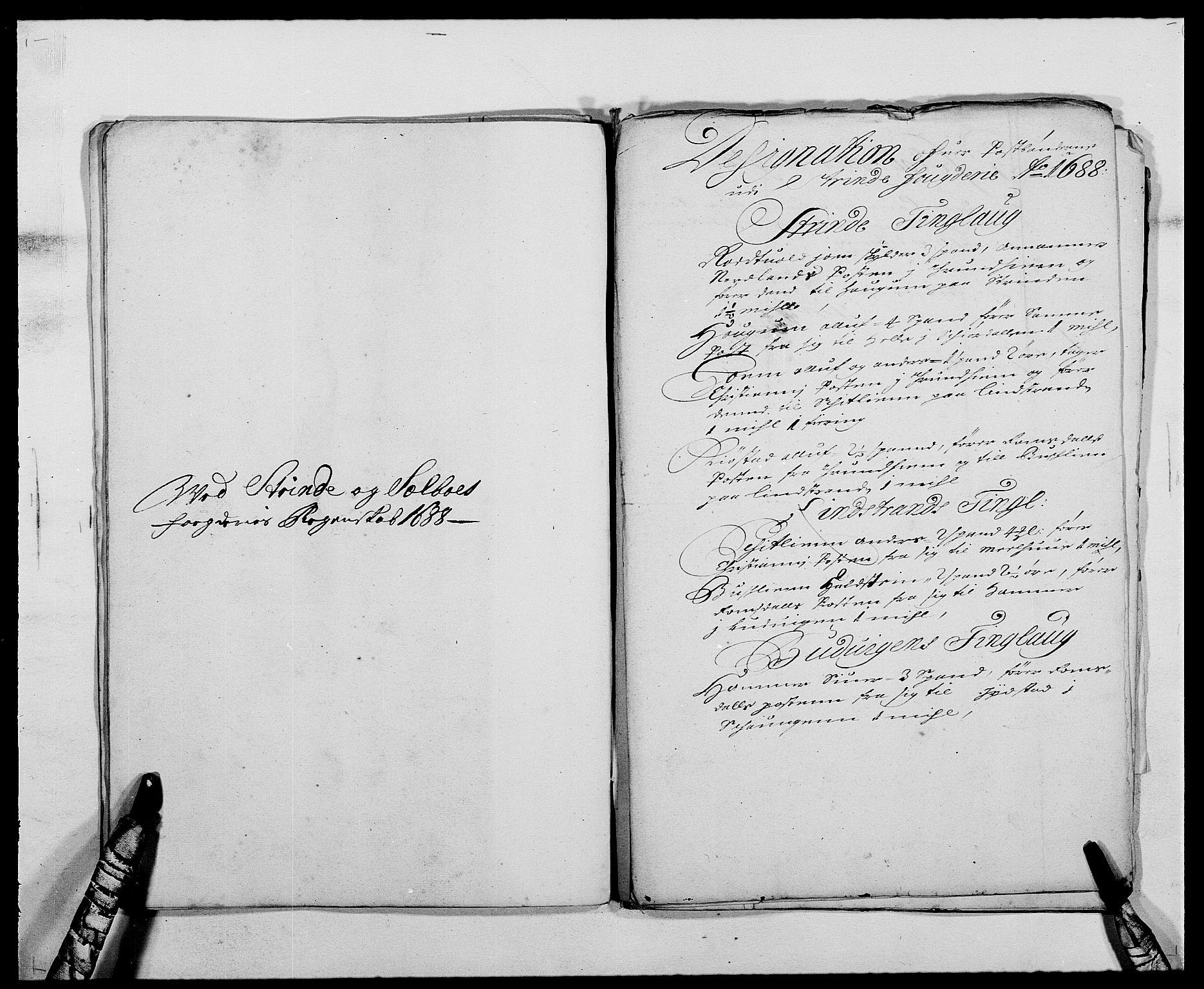 RA, Rentekammeret inntil 1814, Reviderte regnskaper, Fogderegnskap, R61/L4101: Fogderegnskap Strinda og Selbu, 1687-1688, s. 252