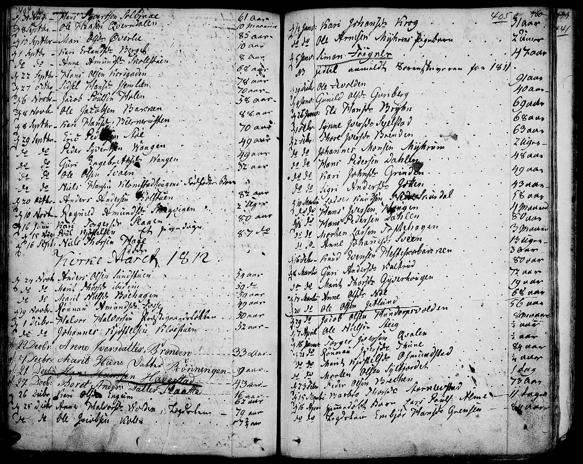 SAH, Fron prestekontor, H/Ha/Haa/L0001: Ministerialbok nr. 1, 1799-1816, s. 404-405