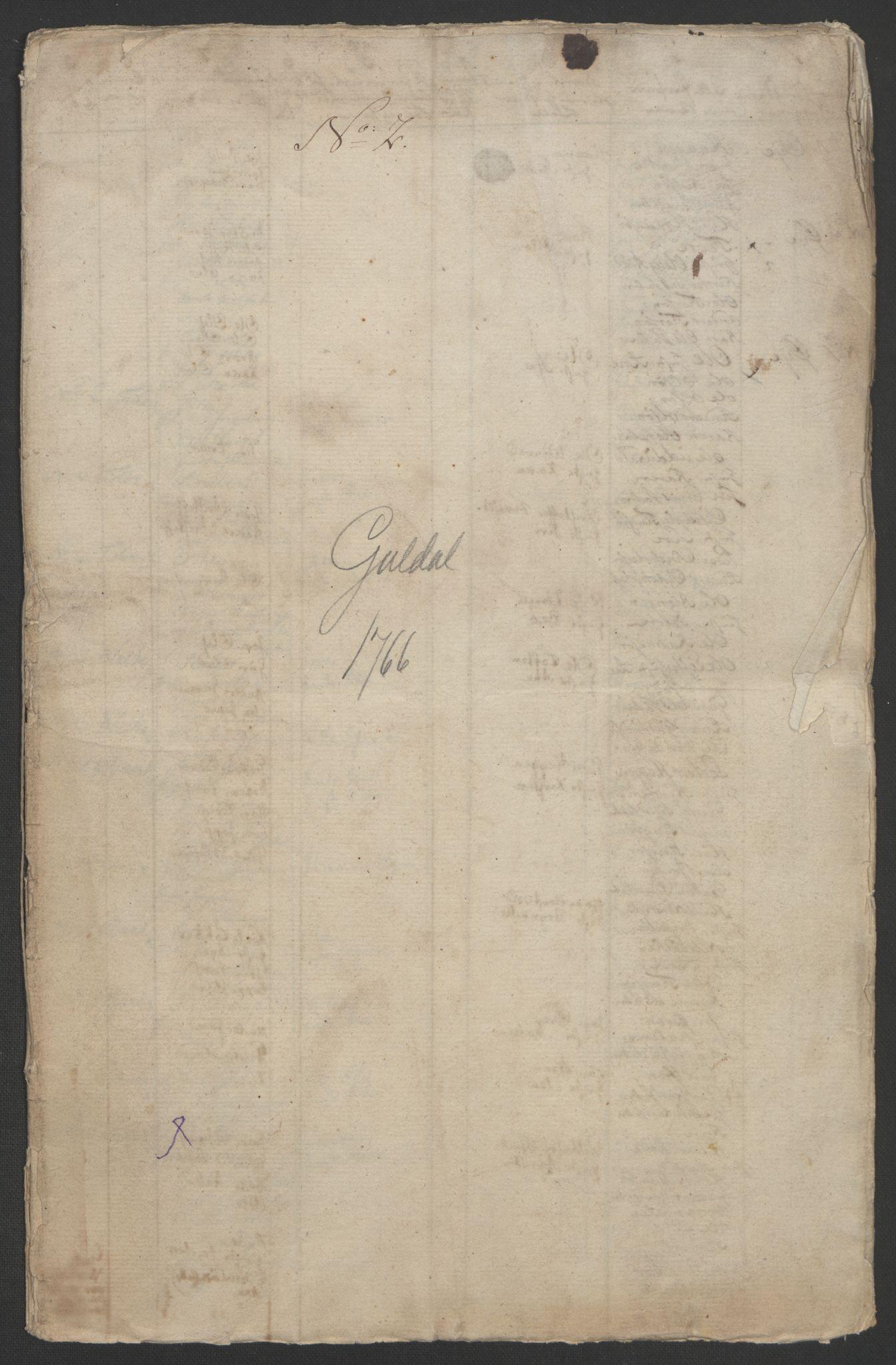 RA, Rentekammeret inntil 1814, Realistisk ordnet avdeling, Ol/L0021: [Gg 10]: Ekstraskatten, 23.09.1762. Orkdal og Gauldal, 1762-1767, s. 516