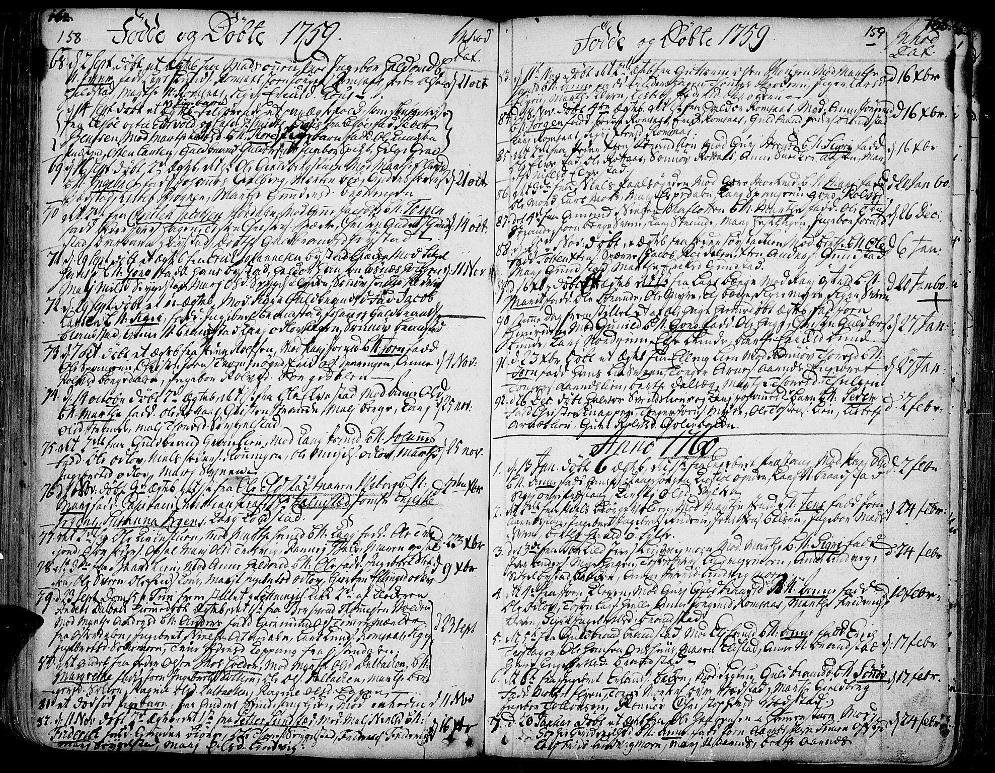 SAH, Ringebu prestekontor, Ministerialbok nr. 2, 1734-1780, s. 158-159