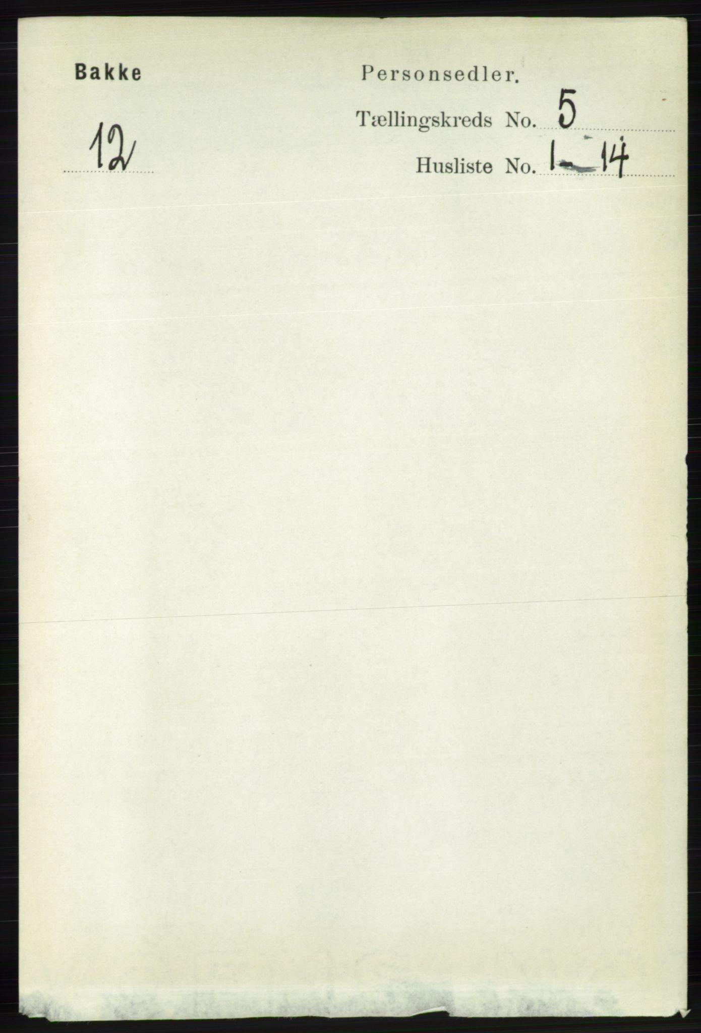 RA, Folketelling 1891 for 1045 Bakke herred, 1891, s. 1078