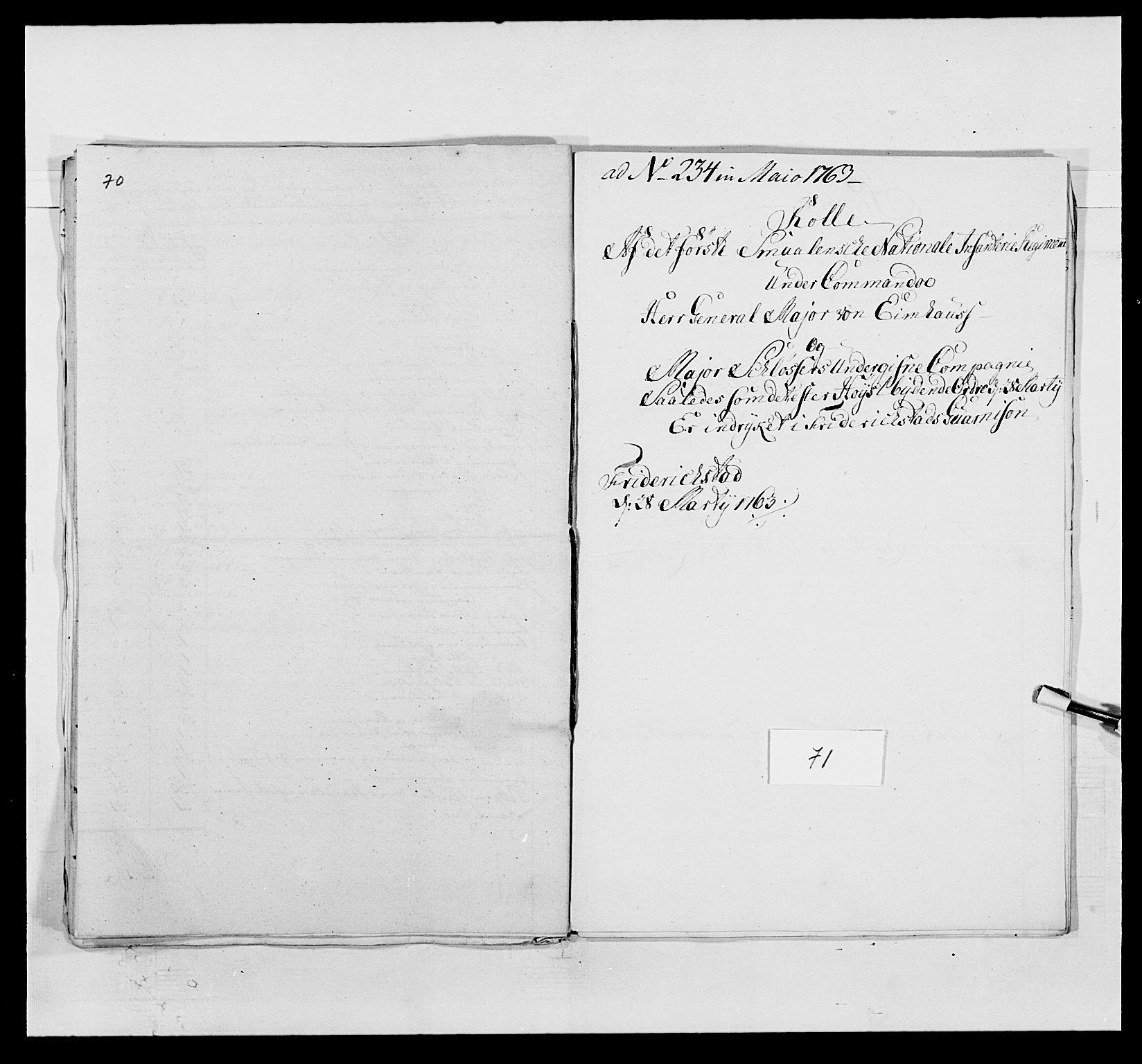 RA, Kommanderende general (KG I) med Det norske krigsdirektorium, E/Ea/L0495: 1. Smålenske regiment, 1732-1763, s. 894