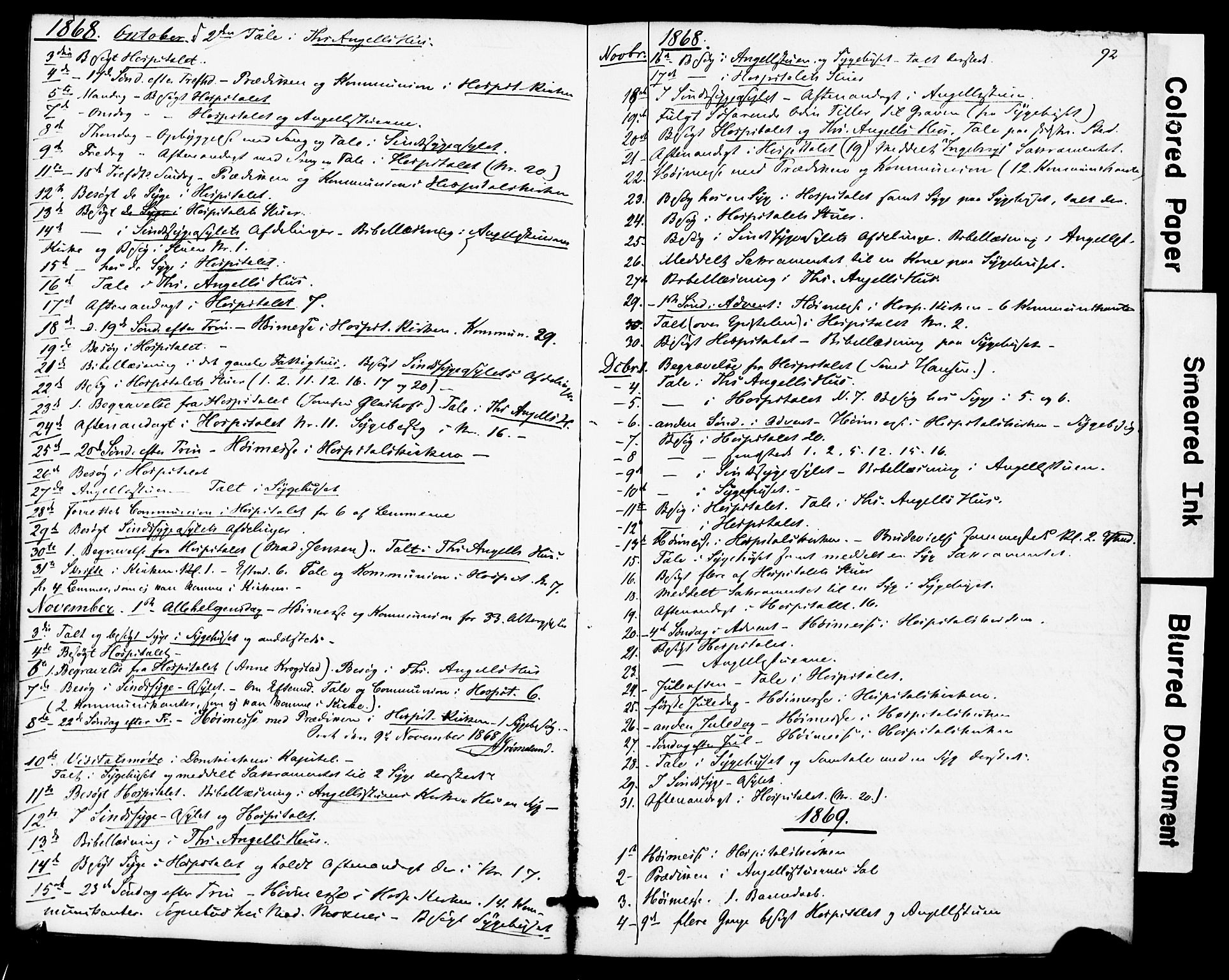 SAT, Ministerialprotokoller, klokkerbøker og fødselsregistre - Sør-Trøndelag, 623/L0469: Ministerialbok nr. 623A03, 1868-1883, s. 92