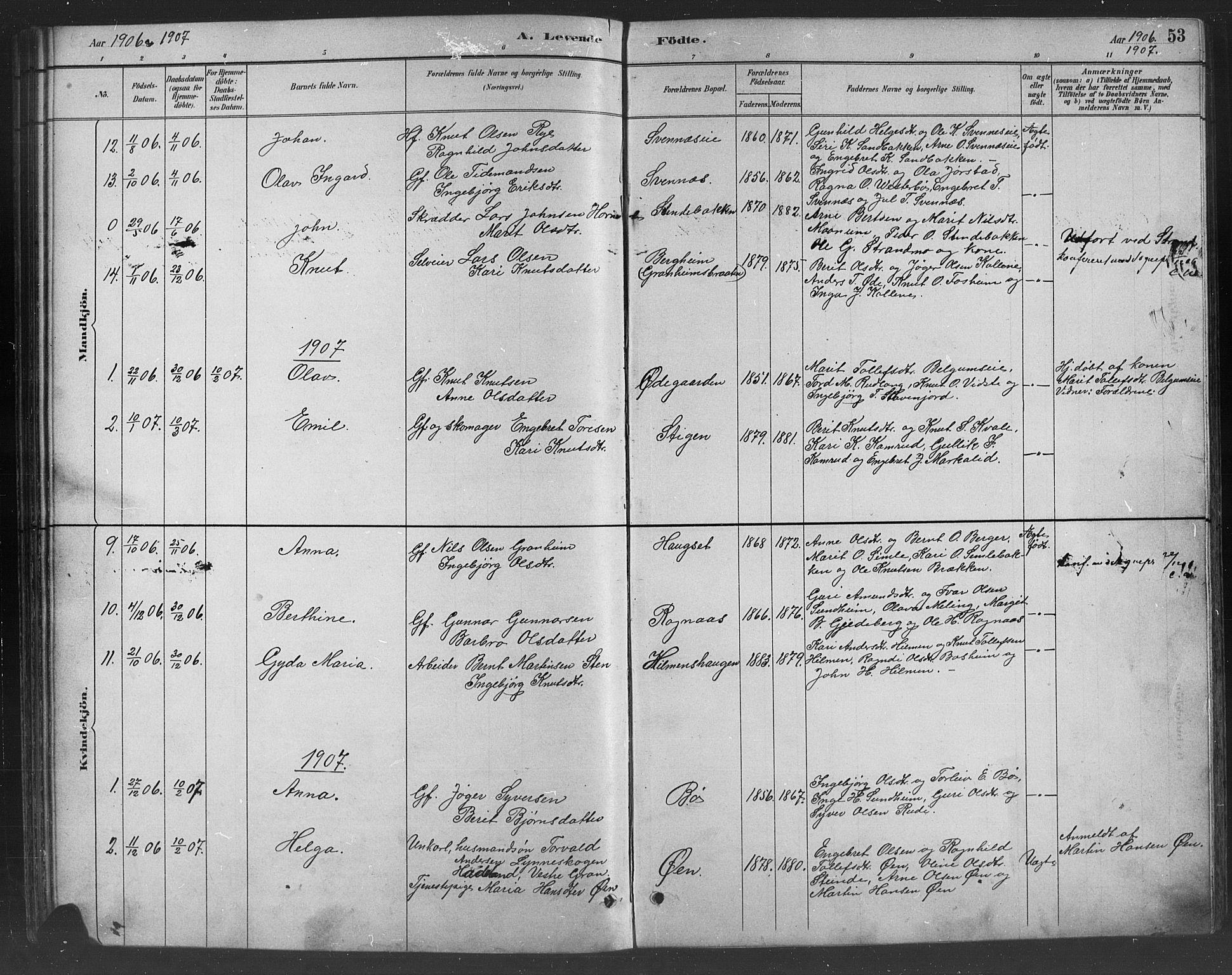 SAH, Nord-Aurdal prestekontor, Klokkerbok nr. 8, 1883-1916, s. 53