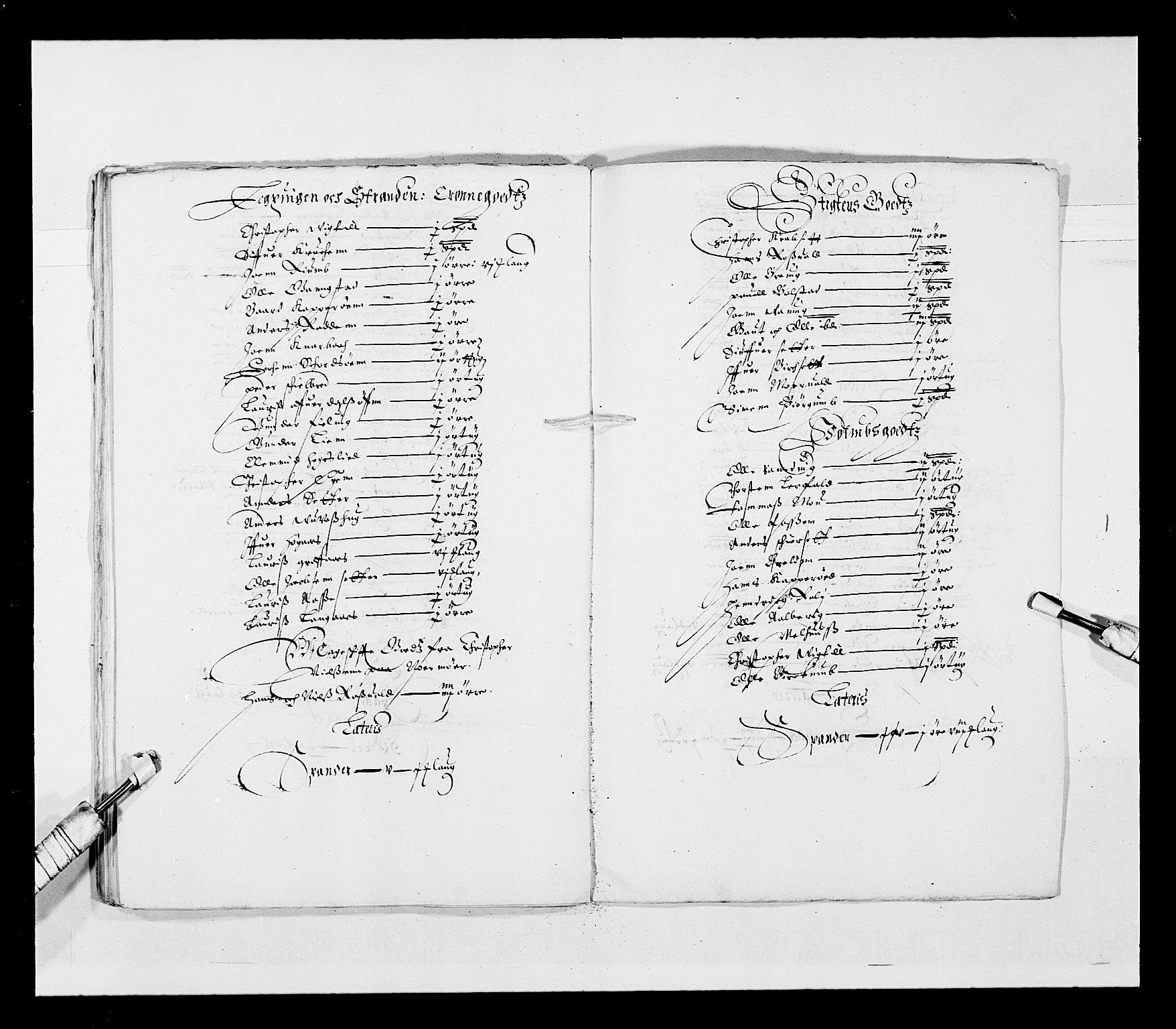 RA, Stattholderembetet 1572-1771, Ek/L0028: Jordebøker 1633-1658:, 1645-1646, s. 160