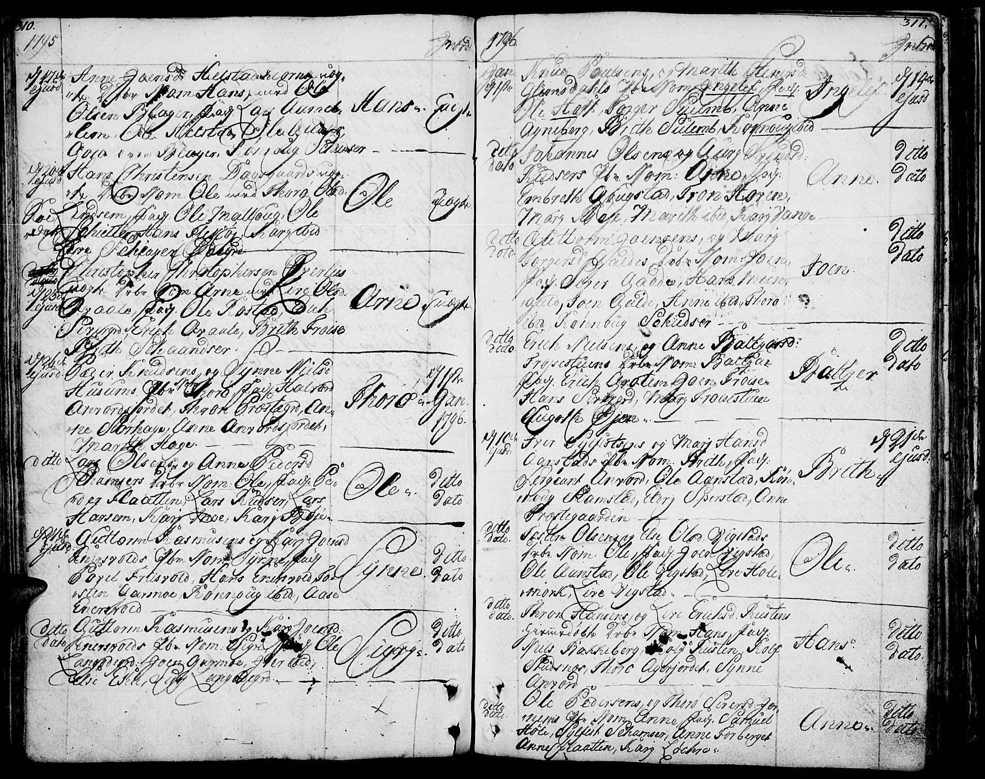 SAH, Lom prestekontor, K/L0002: Ministerialbok nr. 2, 1749-1801, s. 310-311