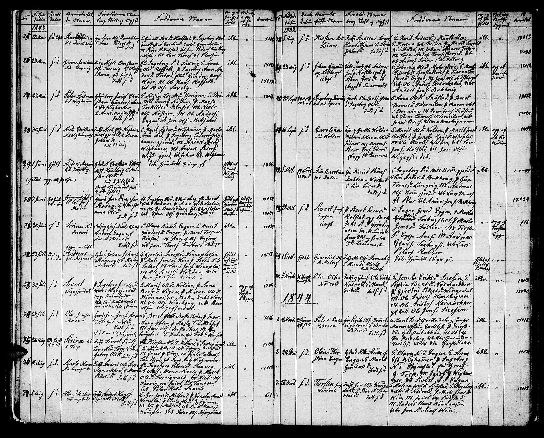 SAT, Ministerialprotokoller, klokkerbøker og fødselsregistre - Sør-Trøndelag, 616/L0421: Klokkerbok nr. 616C04, 1834-1850, s. 18