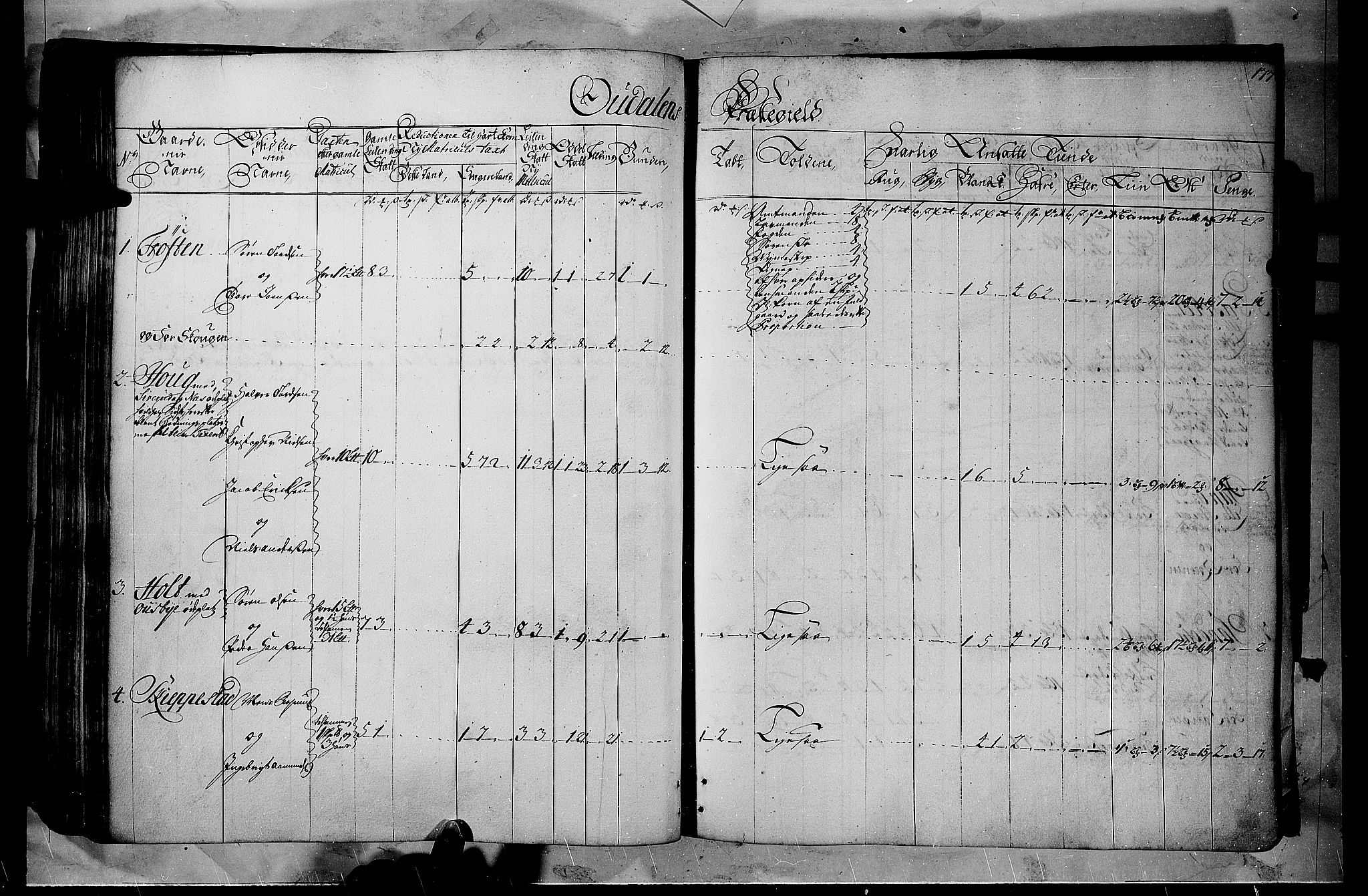 RA, Rentekammeret inntil 1814, Realistisk ordnet avdeling, N/Nb/Nbf/L0102: Solør, Østerdalen og Odal matrikkelprotokoll, 1723, s. 176b-177a