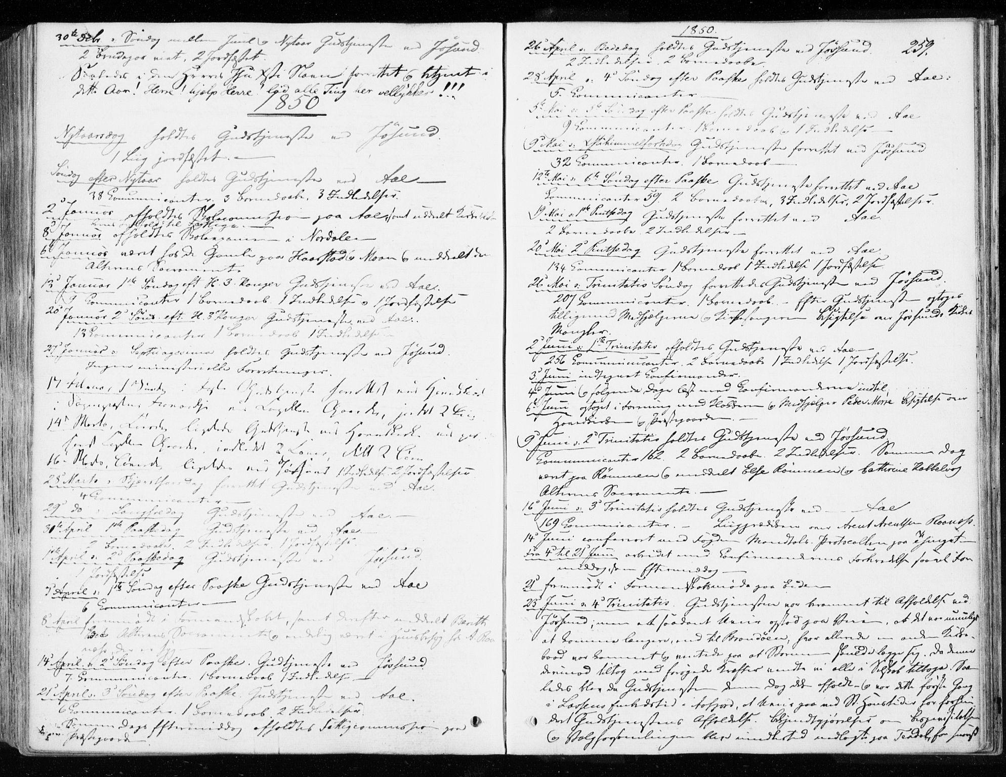SAT, Ministerialprotokoller, klokkerbøker og fødselsregistre - Sør-Trøndelag, 655/L0677: Ministerialbok nr. 655A06, 1847-1860, s. 259