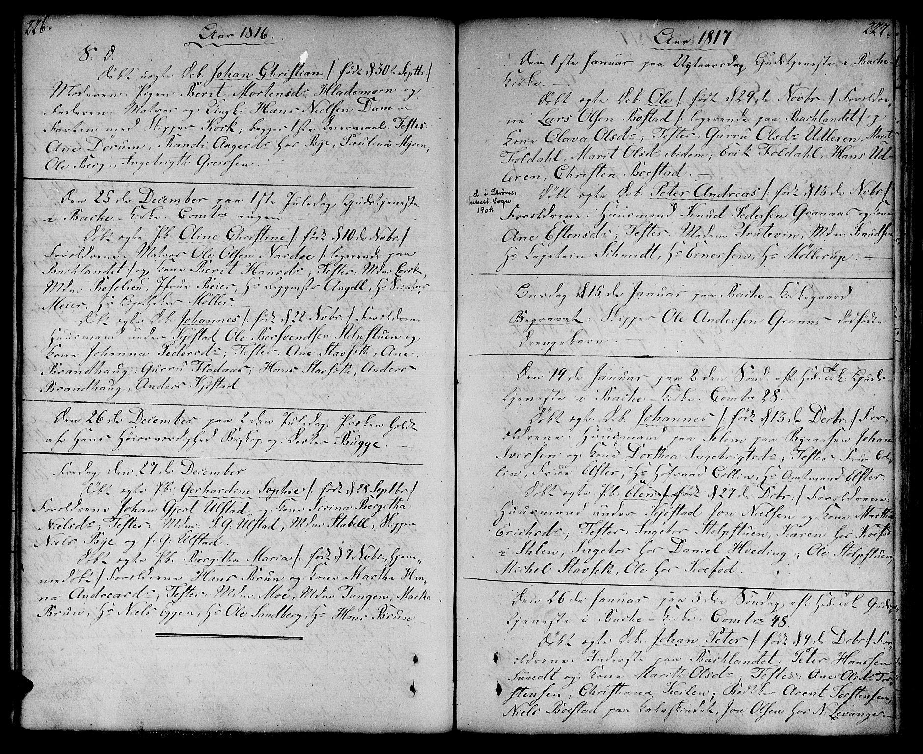 SAT, Ministerialprotokoller, klokkerbøker og fødselsregistre - Sør-Trøndelag, 604/L0181: Ministerialbok nr. 604A02, 1798-1817, s. 226-227