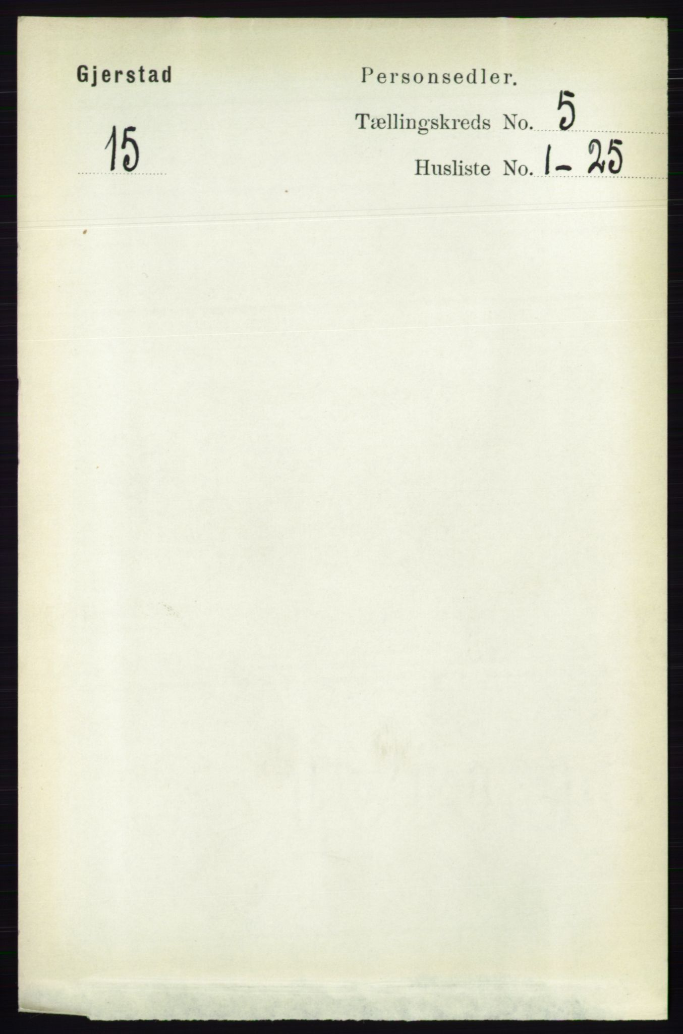 RA, Folketelling 1891 for 0911 Gjerstad herred, 1891, s. 1989