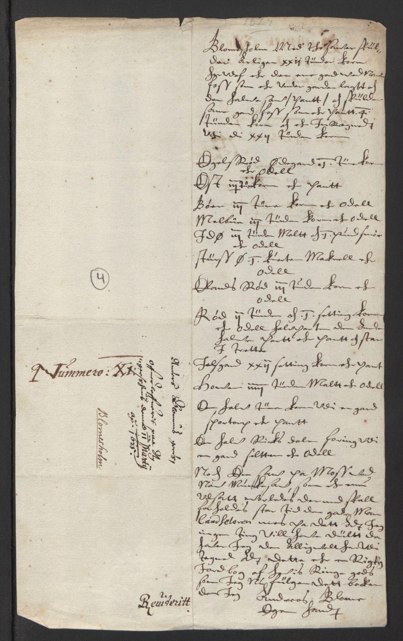 RA, Stattholderembetet 1572-1771, Ek/L0007: Jordebøker til utlikning av rosstjeneste 1624-1626:, 1624-1625, s. 290