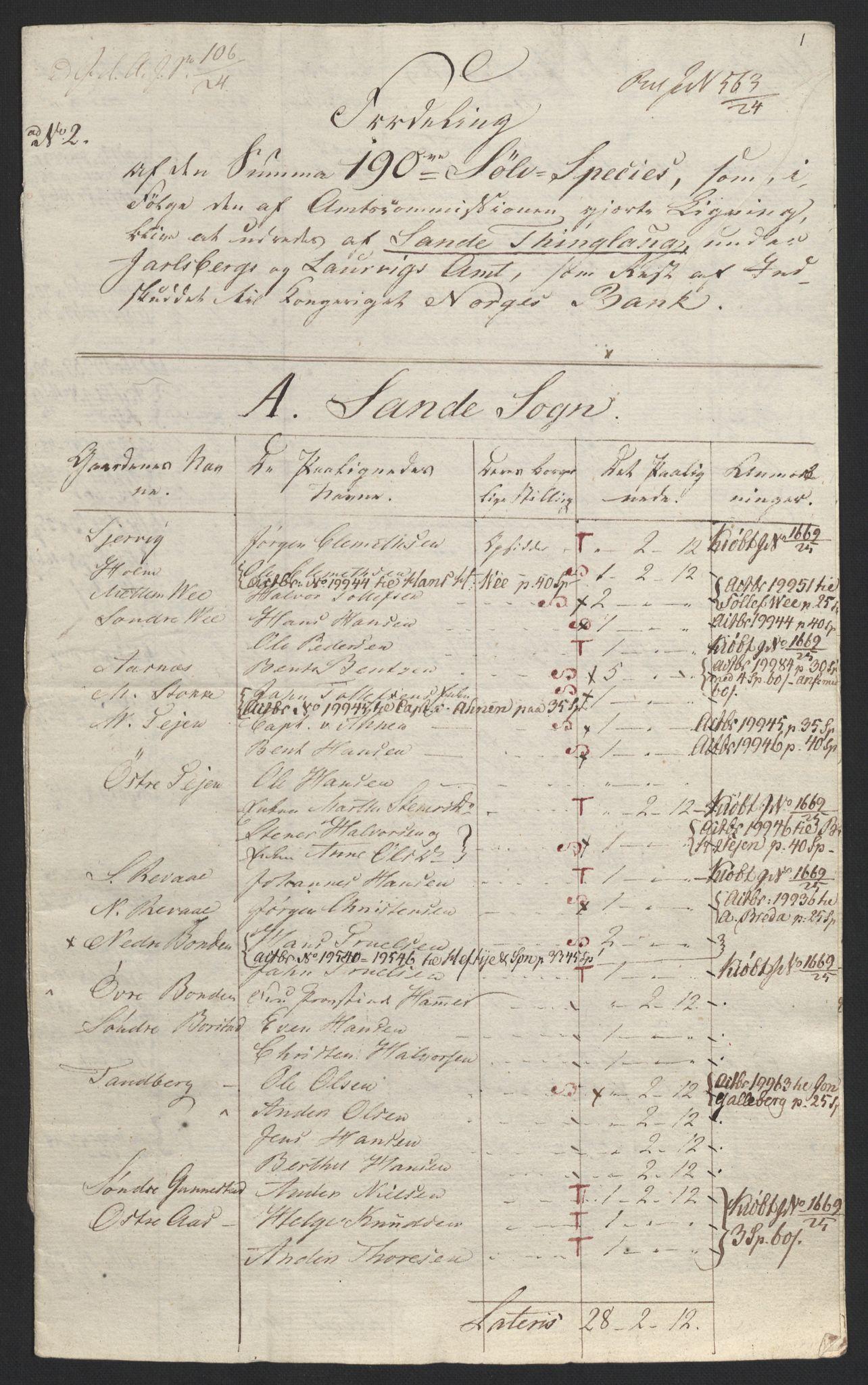 NOBA, Norges Bank/Sølvskatten 1816*, 1816-1824, s. 46