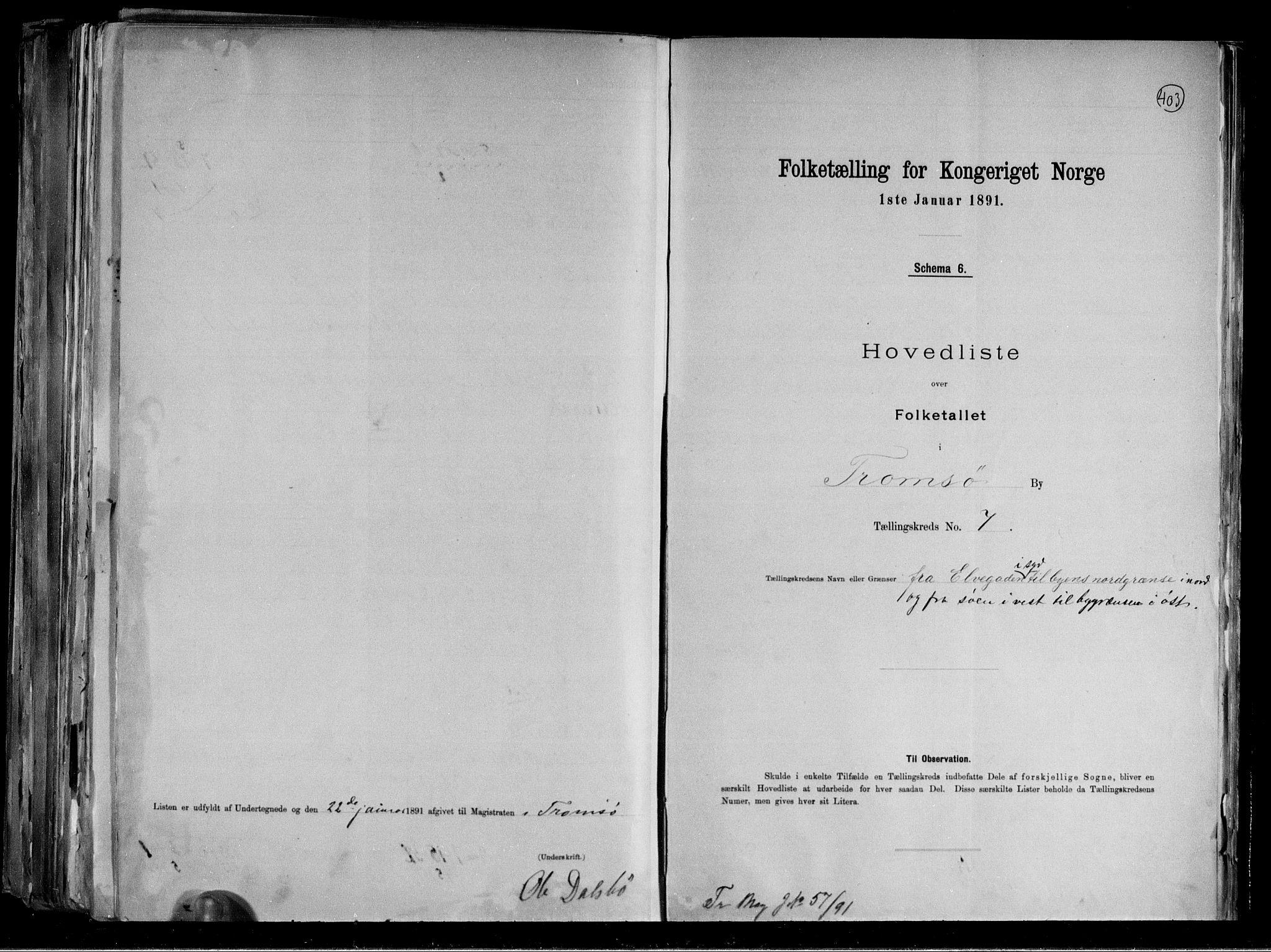 RA, Folketelling 1891 for 1902 Tromsø kjøpstad, 1891, s. 21