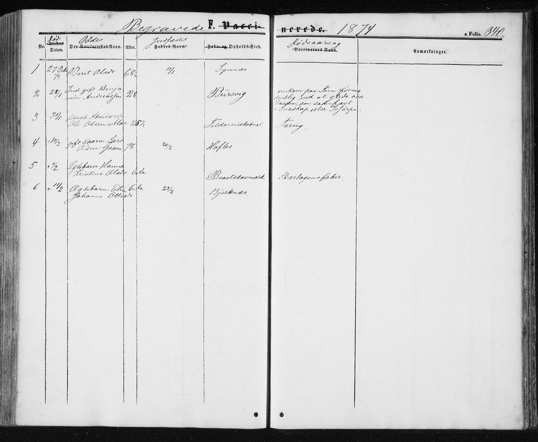 SAT, Ministerialprotokoller, klokkerbøker og fødselsregistre - Nord-Trøndelag, 780/L0641: Ministerialbok nr. 780A06, 1857-1874, s. 340