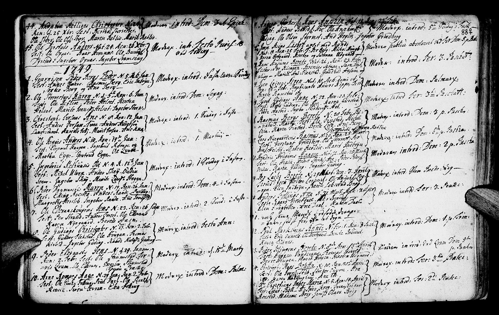 SAT, Ministerialprotokoller, klokkerbøker og fødselsregistre - Nord-Trøndelag, 746/L0439: Ministerialbok nr. 746A01, 1688-1759, s. 88q