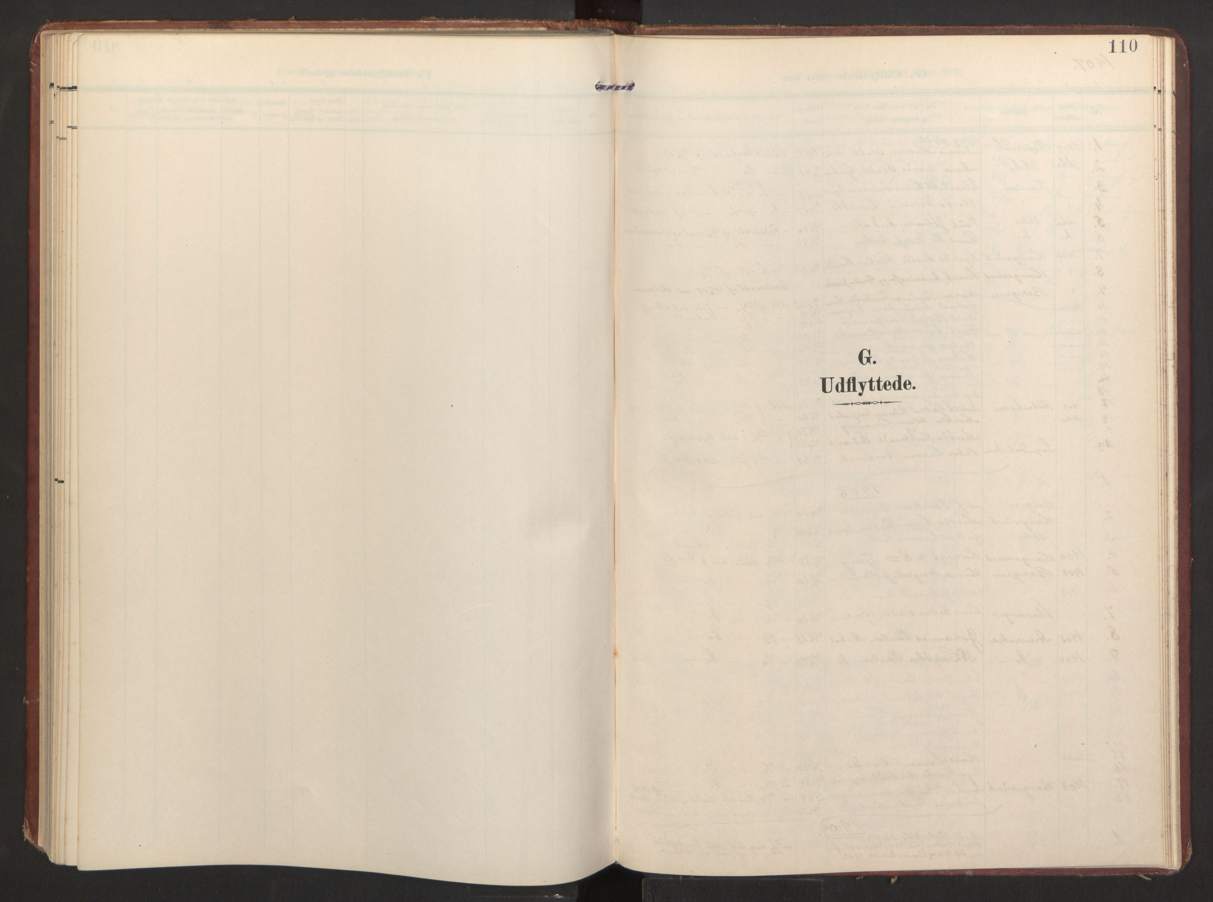 SAB, Finnås sokneprestembete, H/Ha/Haa/Haad/L0003: Ministerialbok nr. D 3, 1907-1921, s. 110