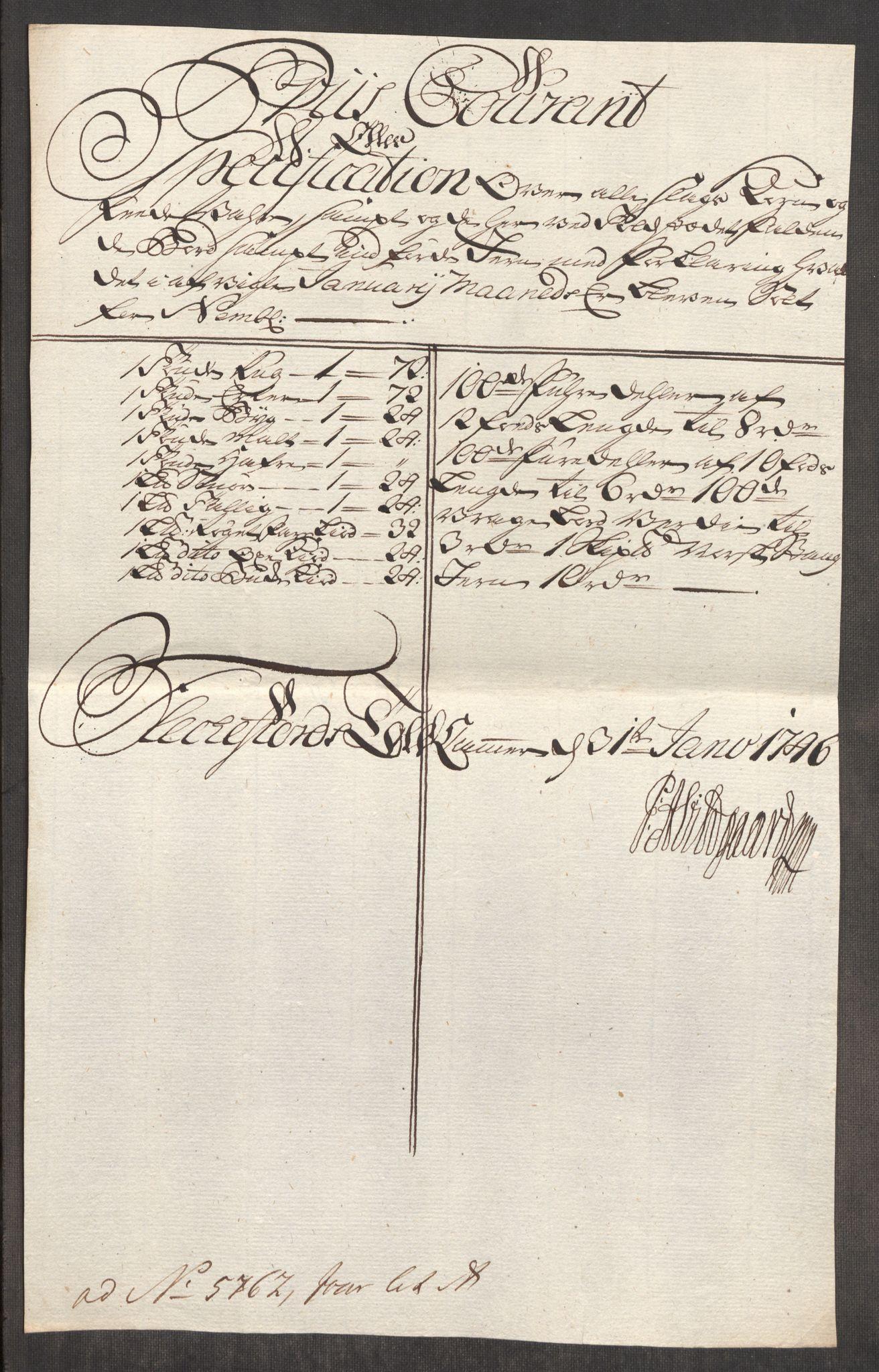 RA, Rentekammeret inntil 1814, Realistisk ordnet avdeling, Oe/L0003: [Ø1]: Priskuranter, 1745-1748, s. 441