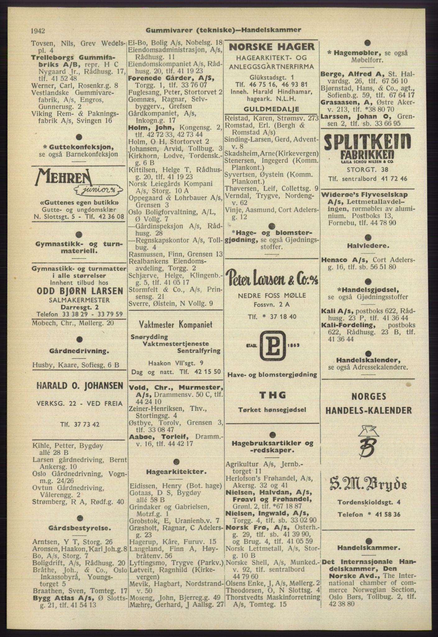 RA, Oslo adressebok (publikasjon)*, 1960-1961, s. 1942