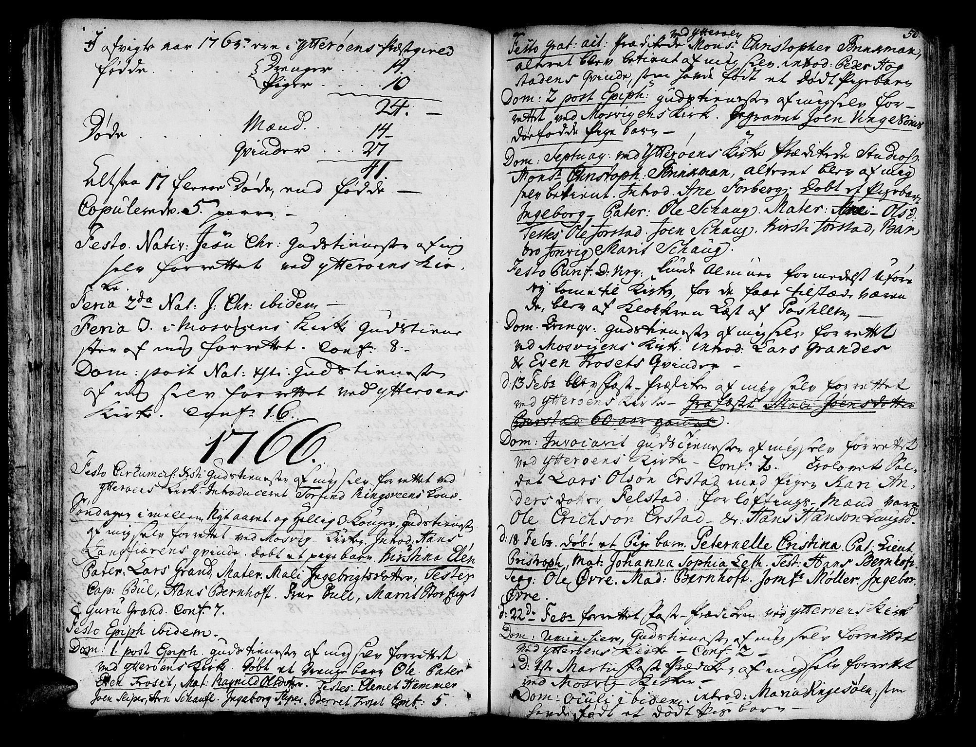 SAT, Ministerialprotokoller, klokkerbøker og fødselsregistre - Nord-Trøndelag, 722/L0216: Ministerialbok nr. 722A03, 1756-1816, s. 50