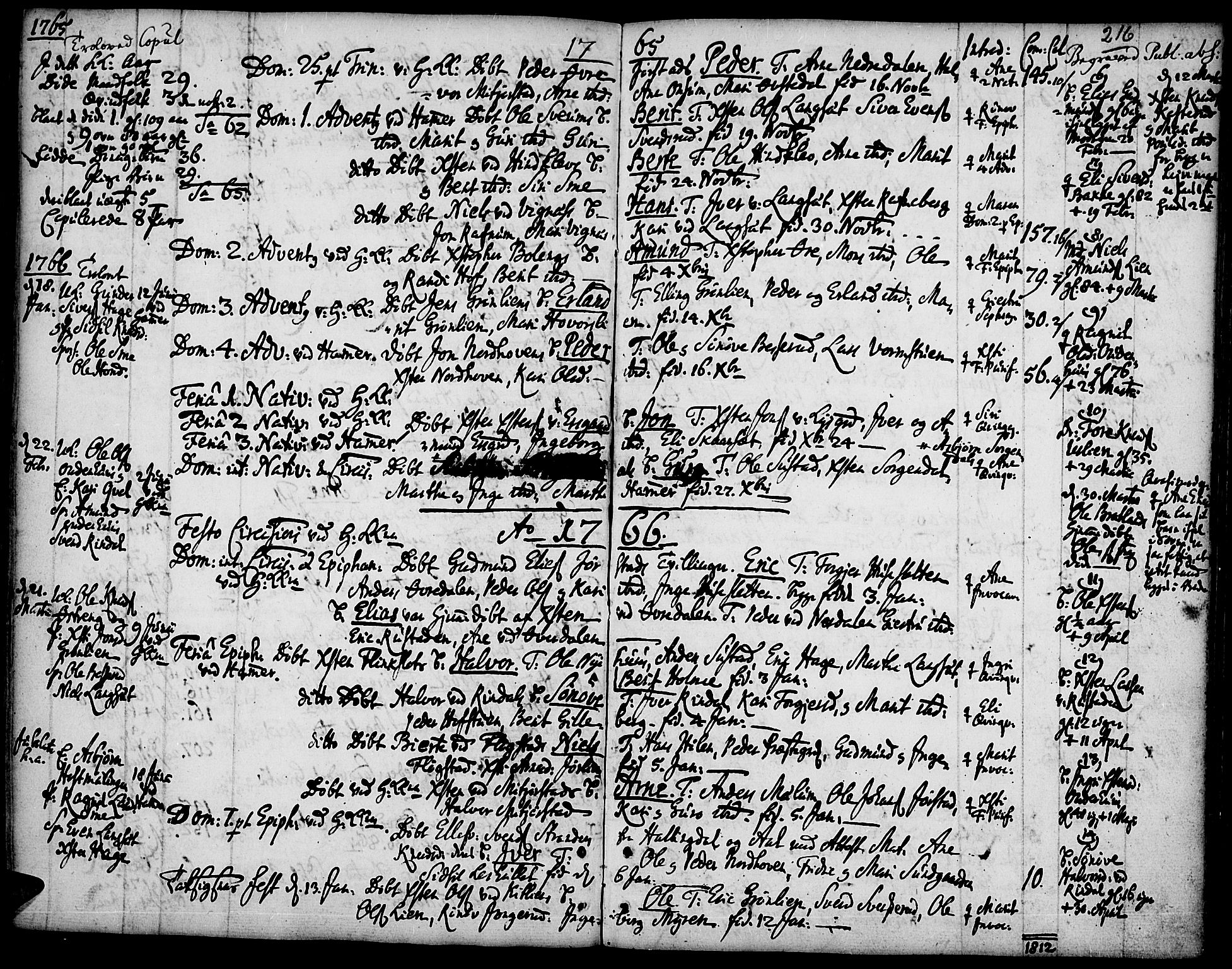 SAH, Fåberg prestekontor, Ministerialbok nr. 1, 1727-1775, s. 216
