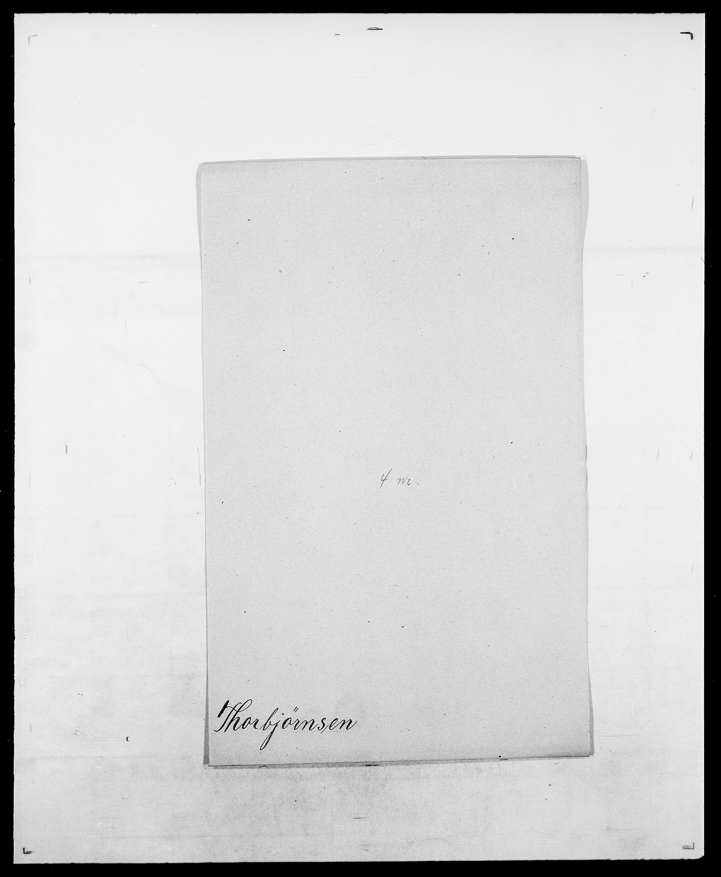 SAO, Delgobe, Charles Antoine - samling, D/Da/L0038: Svanenskjold - Thornsohn, s. 832