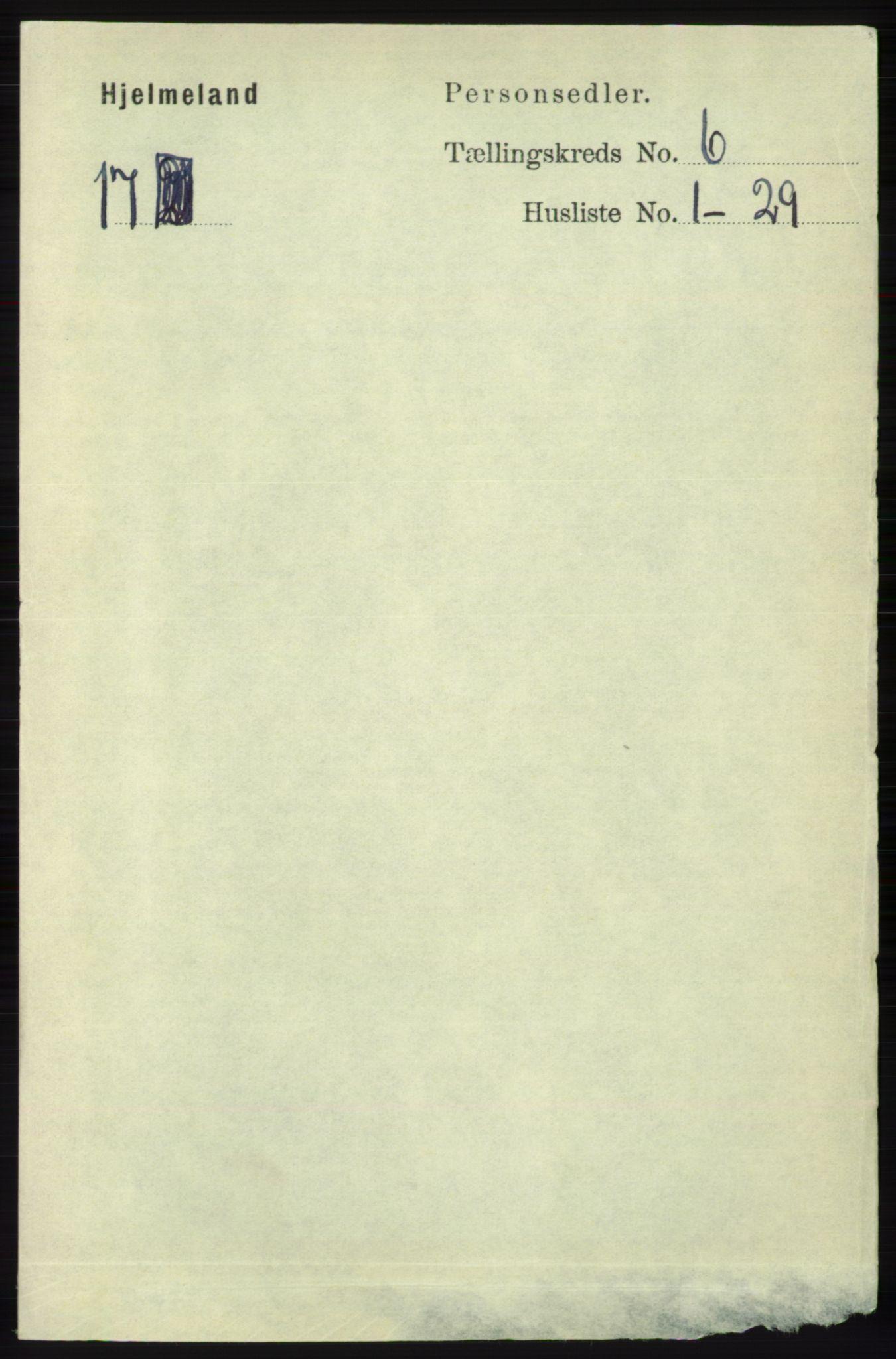 RA, Folketelling 1891 for 1133 Hjelmeland herred, 1891, s. 1555