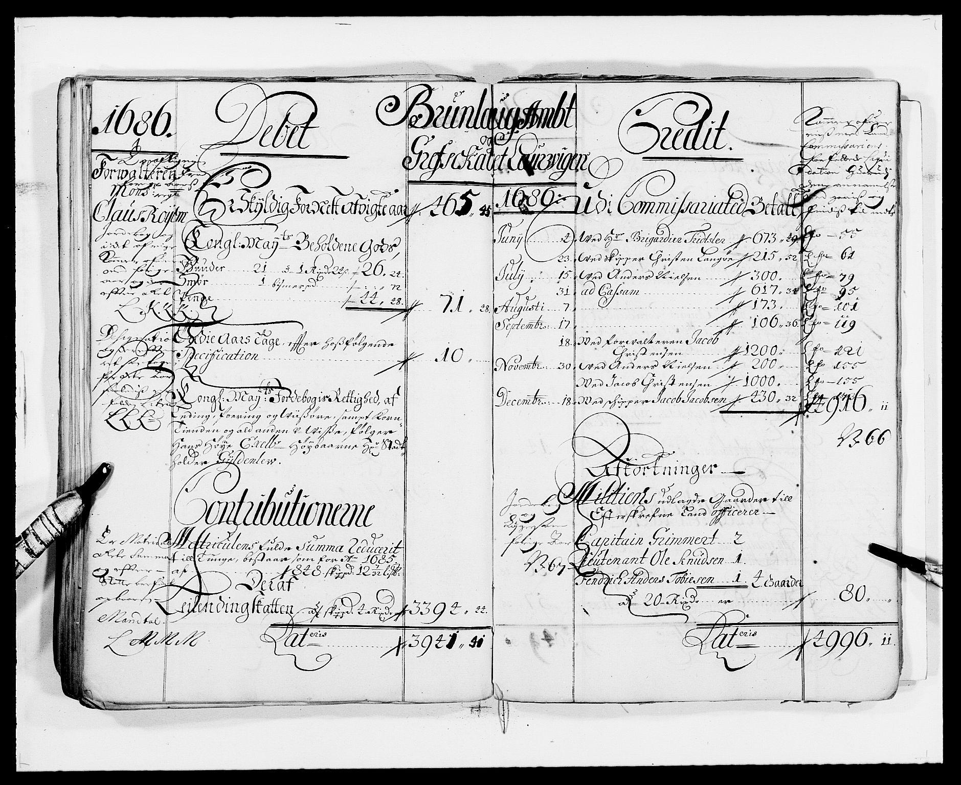 RA, Rentekammeret inntil 1814, Reviderte regnskaper, Fogderegnskap, R33/L1967: Fogderegnskap Larvik grevskap, 1675-1687, s. 67