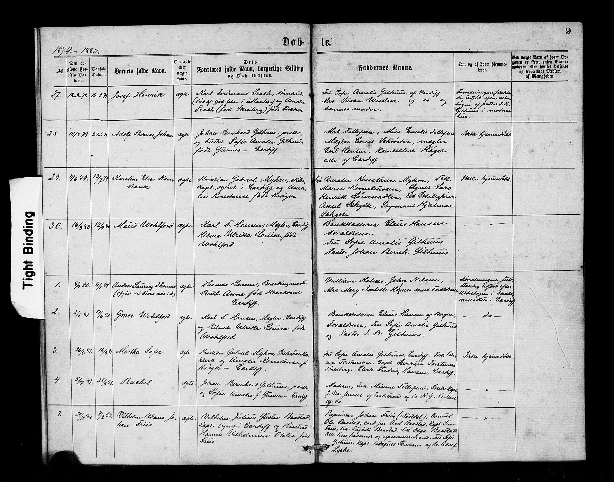 SAB, Den Norske Sjømannsmisjon i utlandet*, Ministerialbok nr. A 1, 1866-1887, s. 9