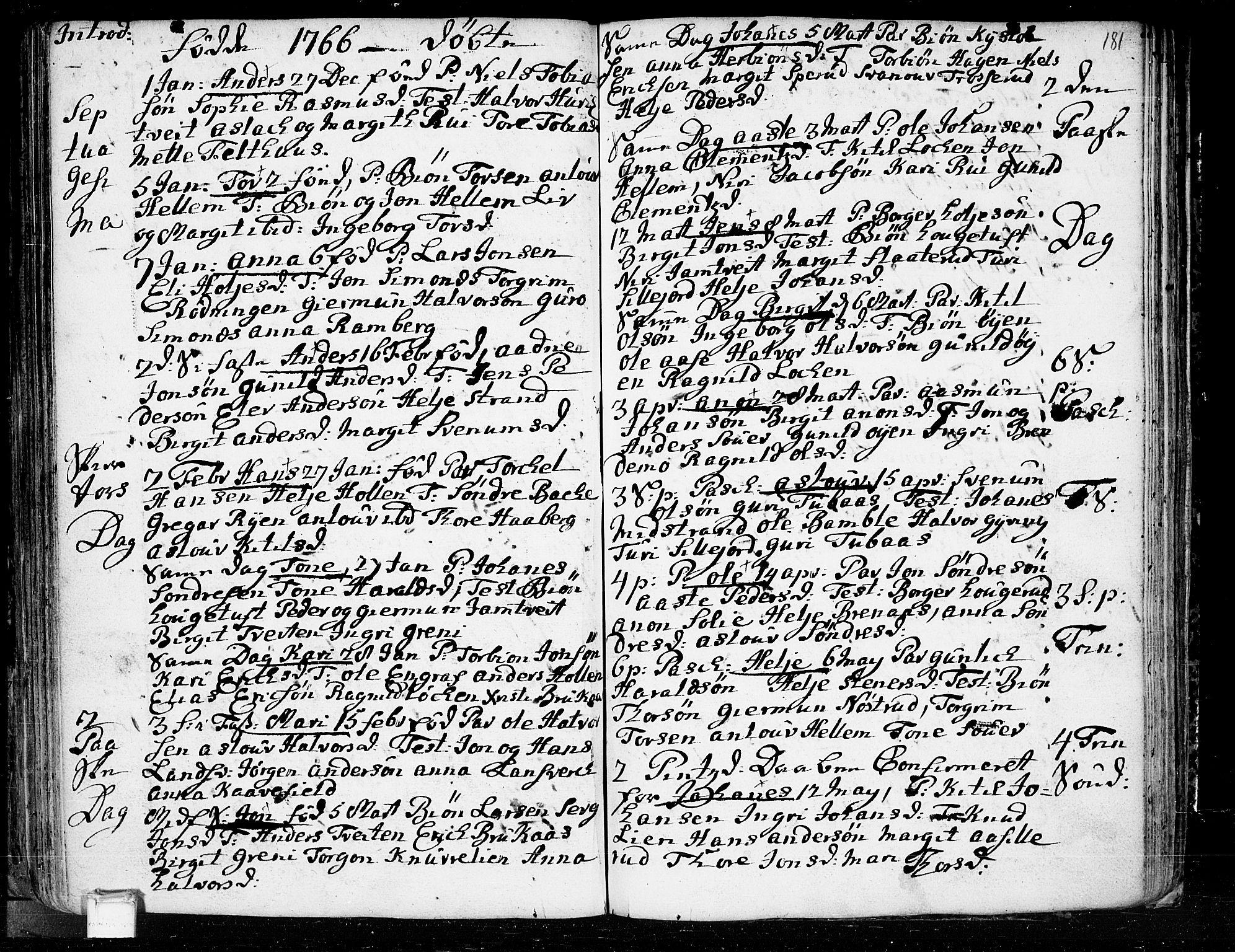 SAKO, Heddal kirkebøker, F/Fa/L0003: Ministerialbok nr. I 3, 1723-1783, s. 181