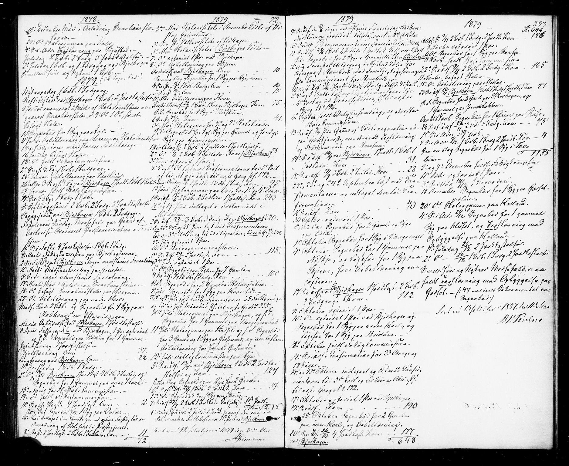 SAT, Ministerialprotokoller, klokkerbøker og fødselsregistre - Sør-Trøndelag, 674/L0870: Ministerialbok nr. 674A02, 1861-1879, s. 293