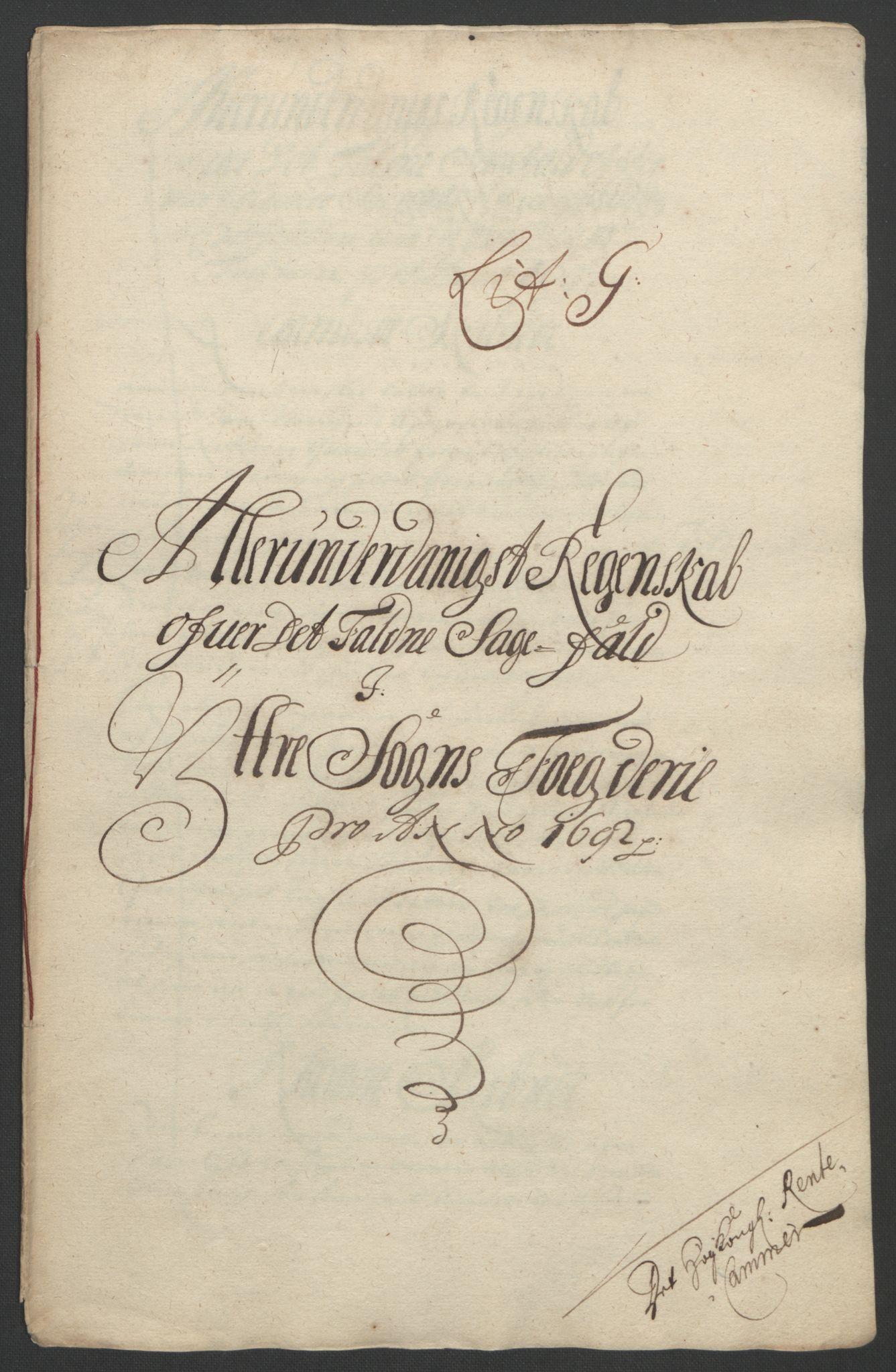 RA, Rentekammeret inntil 1814, Reviderte regnskaper, Fogderegnskap, R52/L3306: Fogderegnskap Sogn, 1691-1692, s. 358