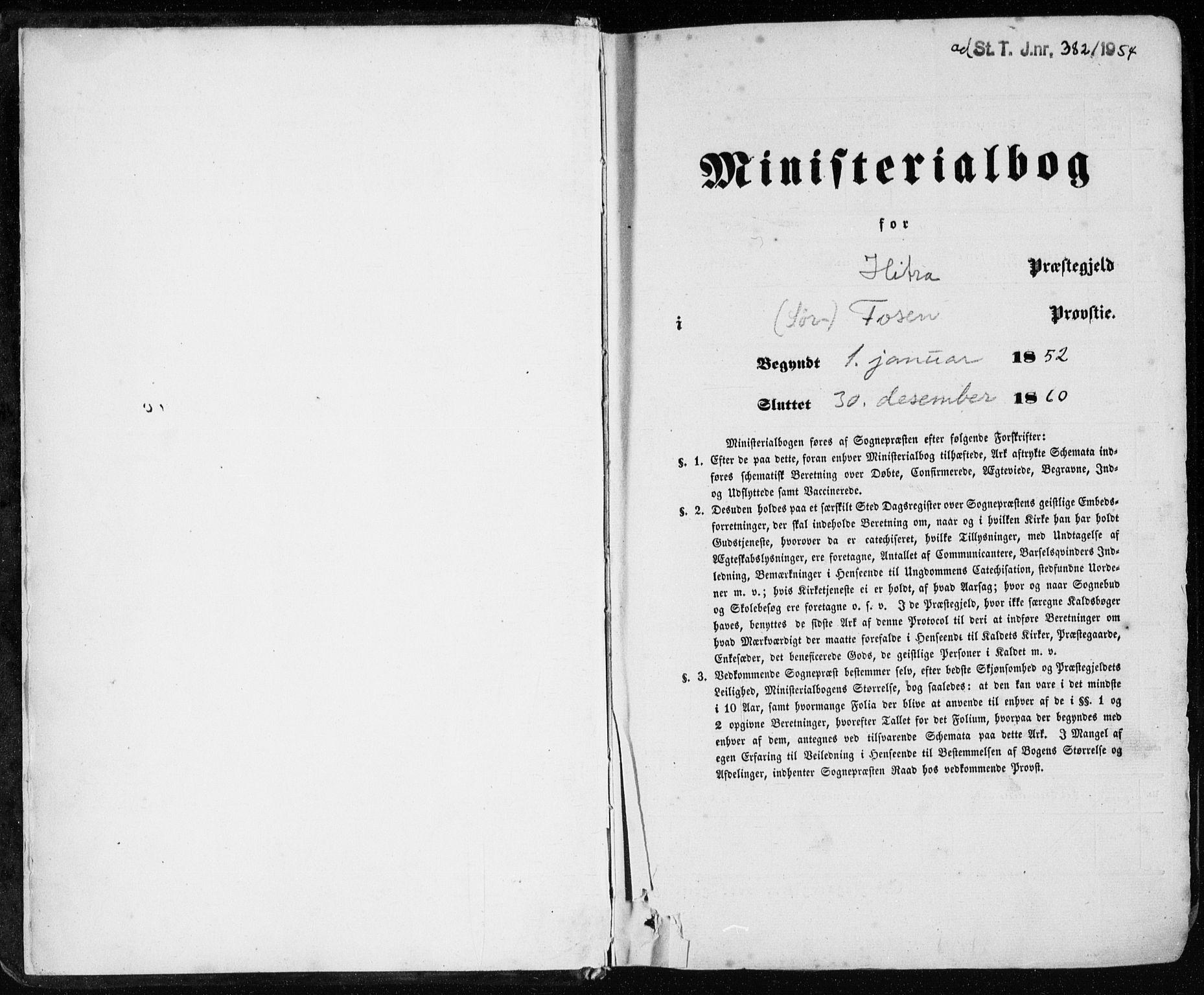 SAT, Ministerialprotokoller, klokkerbøker og fødselsregistre - Sør-Trøndelag, 634/L0530: Ministerialbok nr. 634A06, 1852-1860