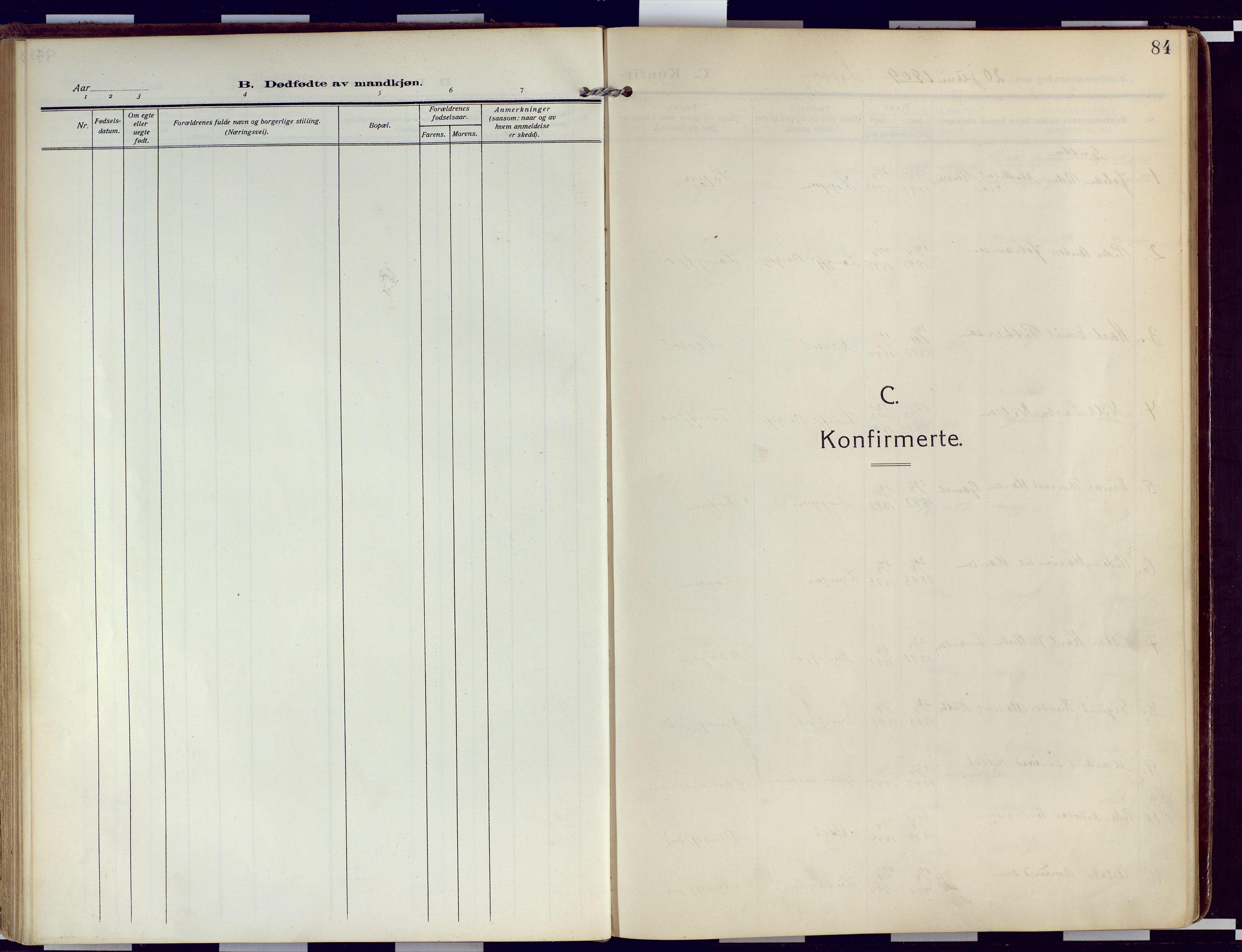 SATØ, Loppa sokneprestkontor, H/Ha/L0011kirke: Ministerialbok nr. 11, 1909-1919, s. 84