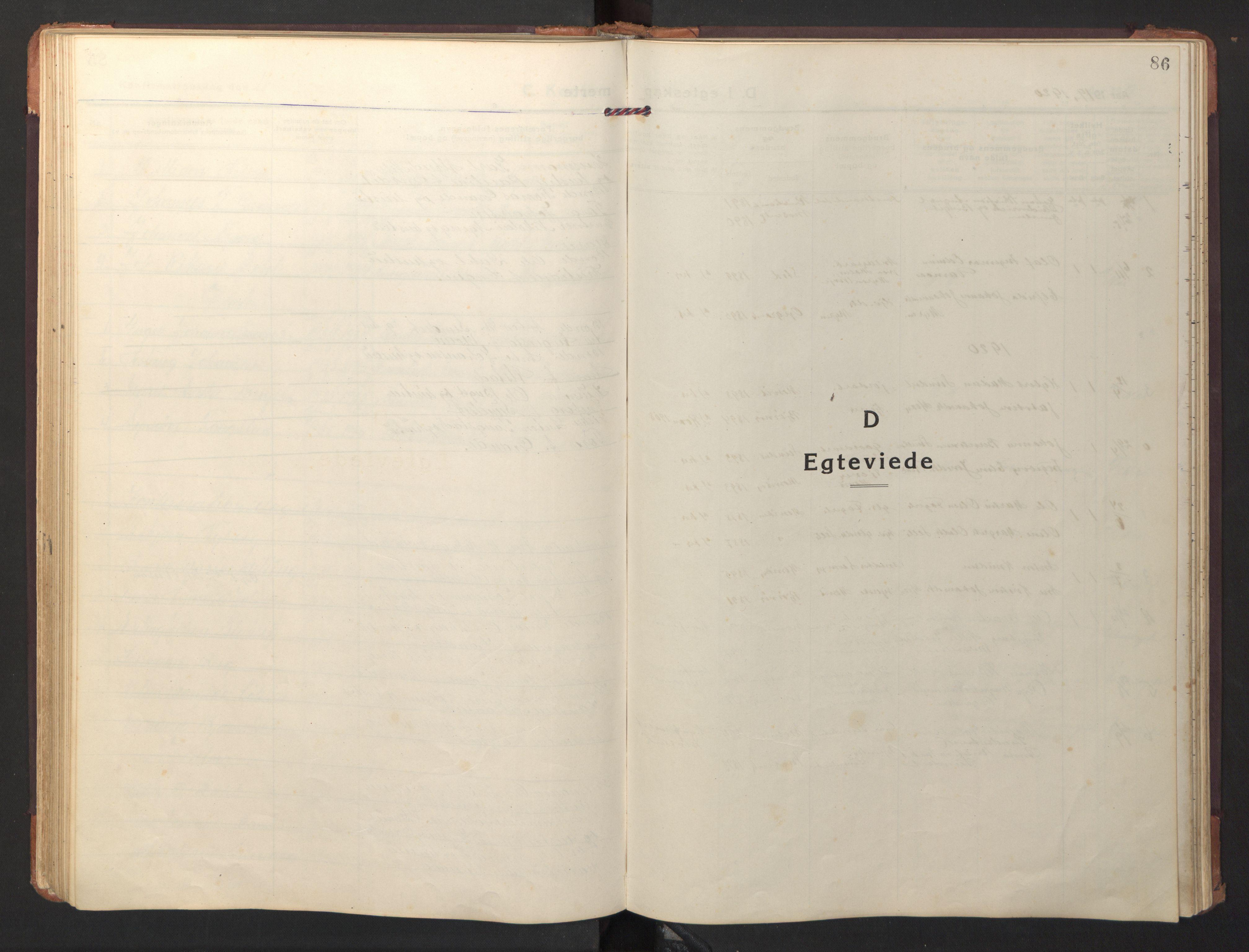 SAT, Ministerialprotokoller, klokkerbøker og fødselsregistre - Nord-Trøndelag, 733/L0328: Klokkerbok nr. 733C03, 1919-1966, s. 86