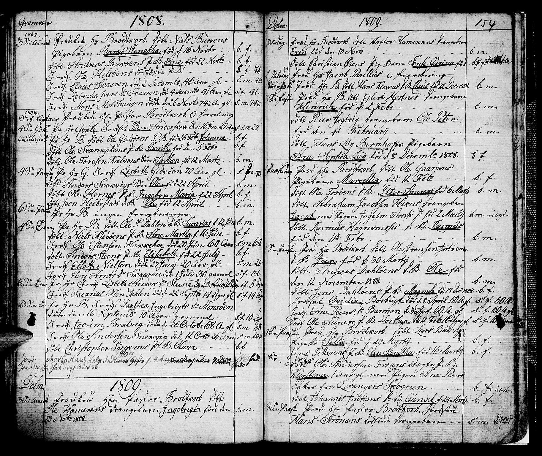 SAT, Ministerialprotokoller, klokkerbøker og fødselsregistre - Sør-Trøndelag, 634/L0526: Ministerialbok nr. 634A02, 1775-1818, s. 154
