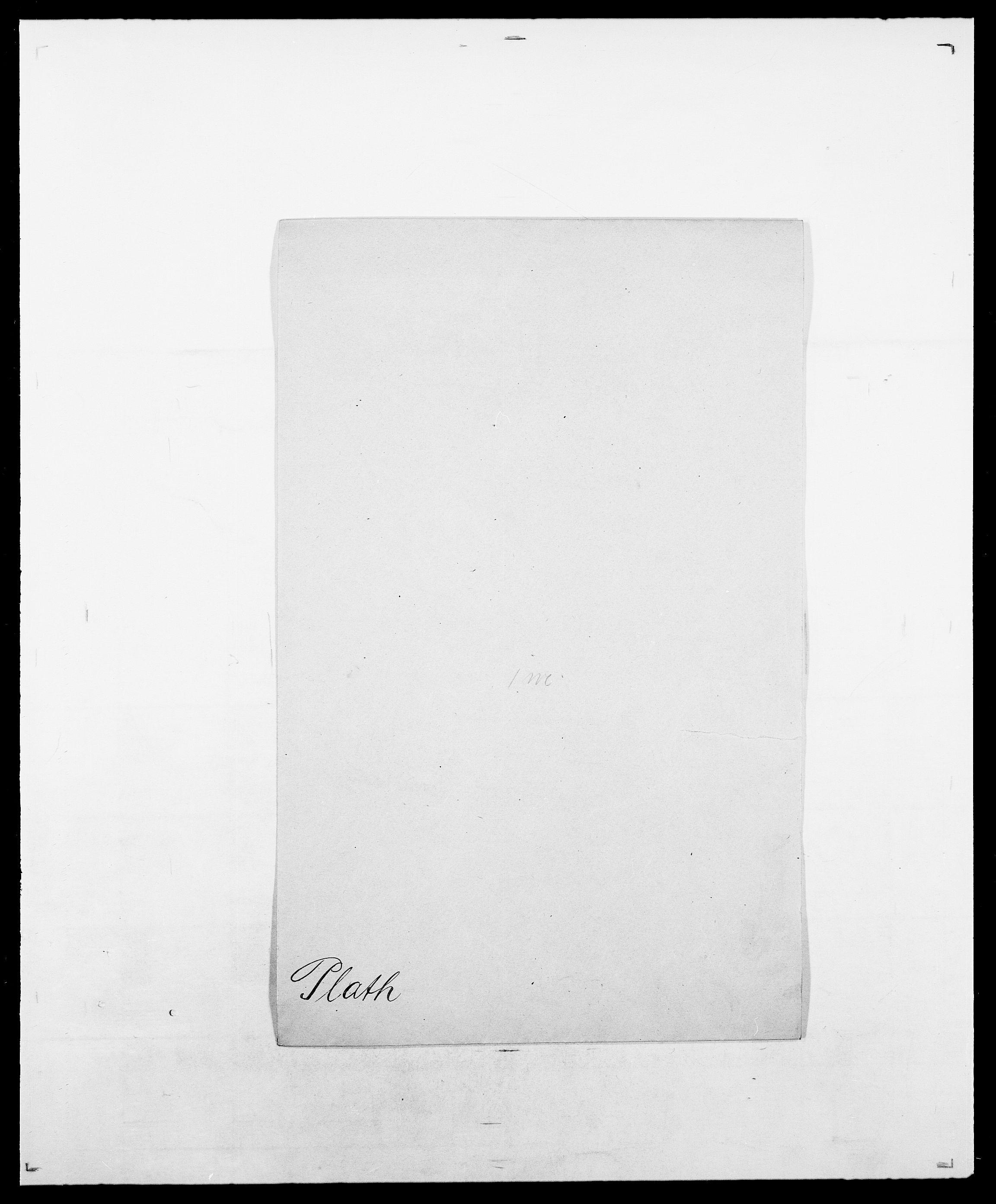 SAO, Delgobe, Charles Antoine - samling, D/Da/L0031: de Place - Raaum, s. 35