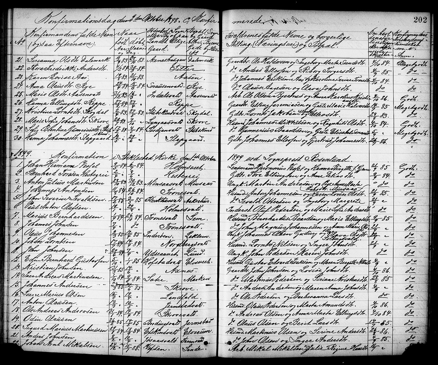 SAT, Ministerialprotokoller, klokkerbøker og fødselsregistre - Nord-Trøndelag, 723/L0257: Klokkerbok nr. 723C05, 1890-1907, s. 202