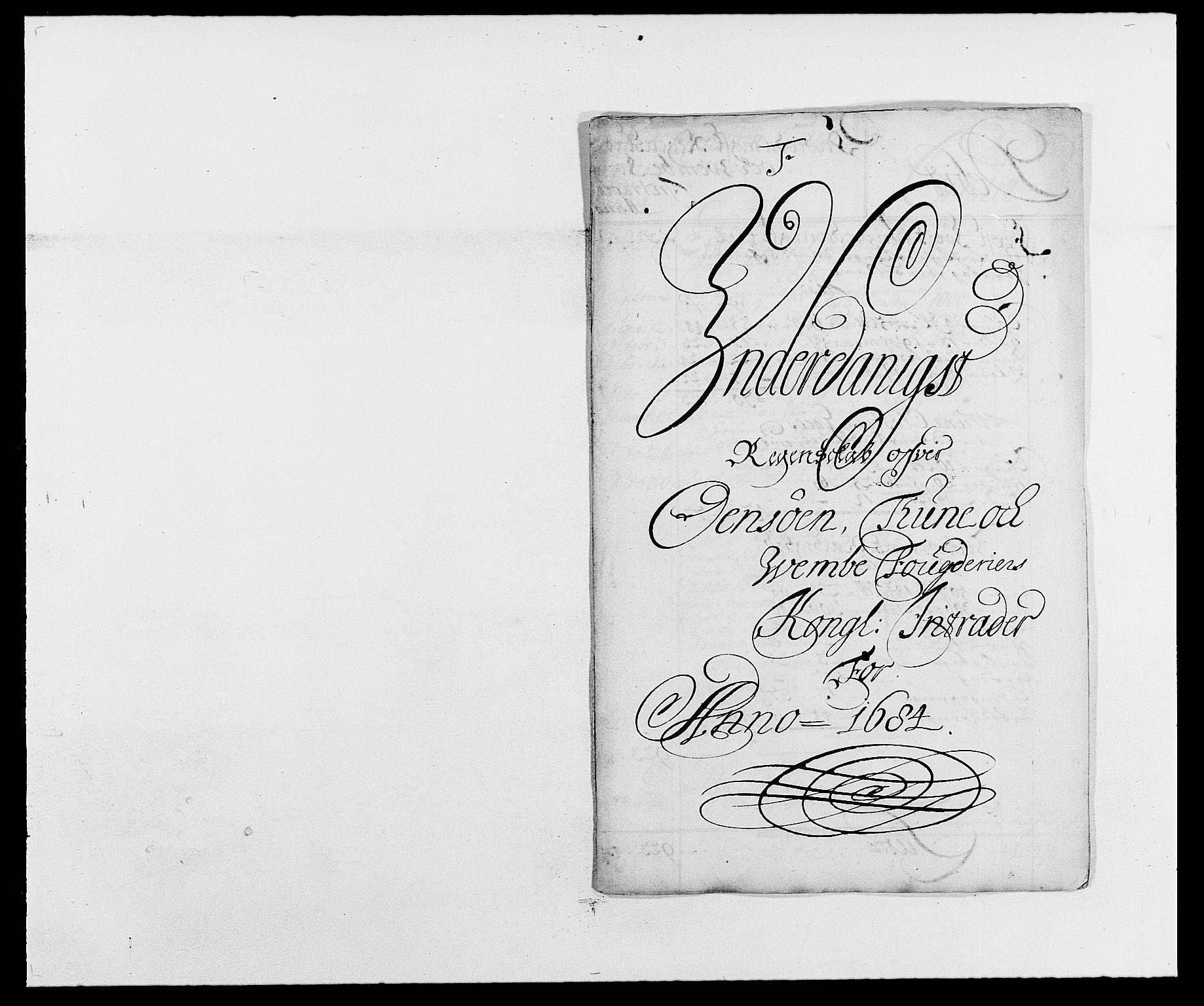 RA, Rentekammeret inntil 1814, Reviderte regnskaper, Fogderegnskap, R03/L0115: Fogderegnskap Onsøy, Tune, Veme og Åbygge fogderi, 1684-1689, s. 2