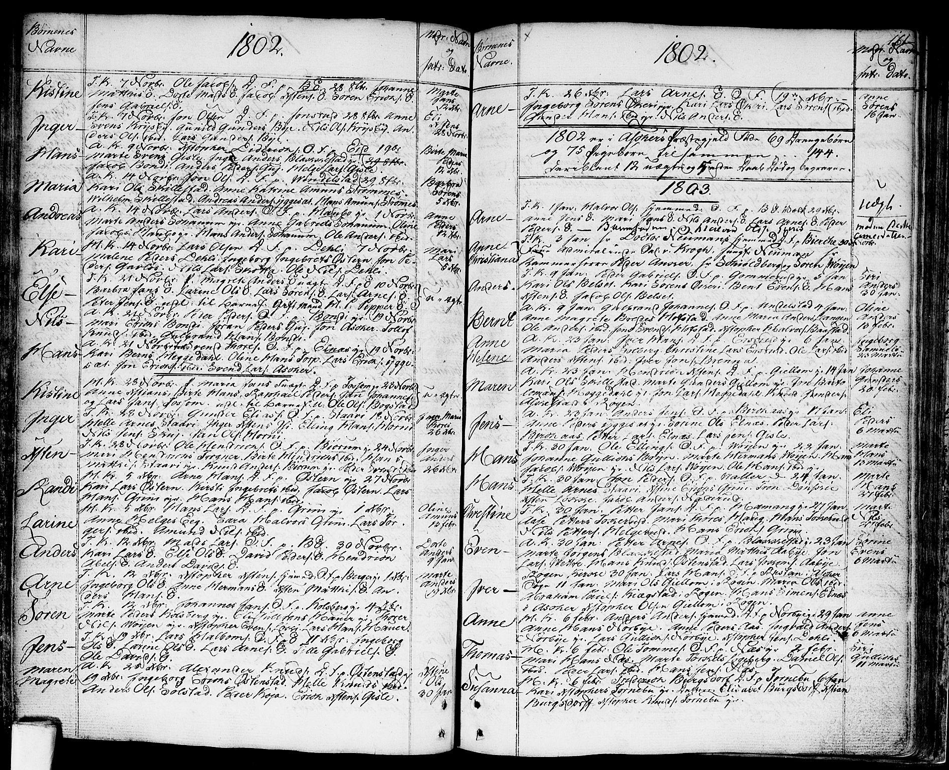 SAO, Asker prestekontor Kirkebøker, F/Fa/L0003: Ministerialbok nr. I 3, 1767-1807, s. 161