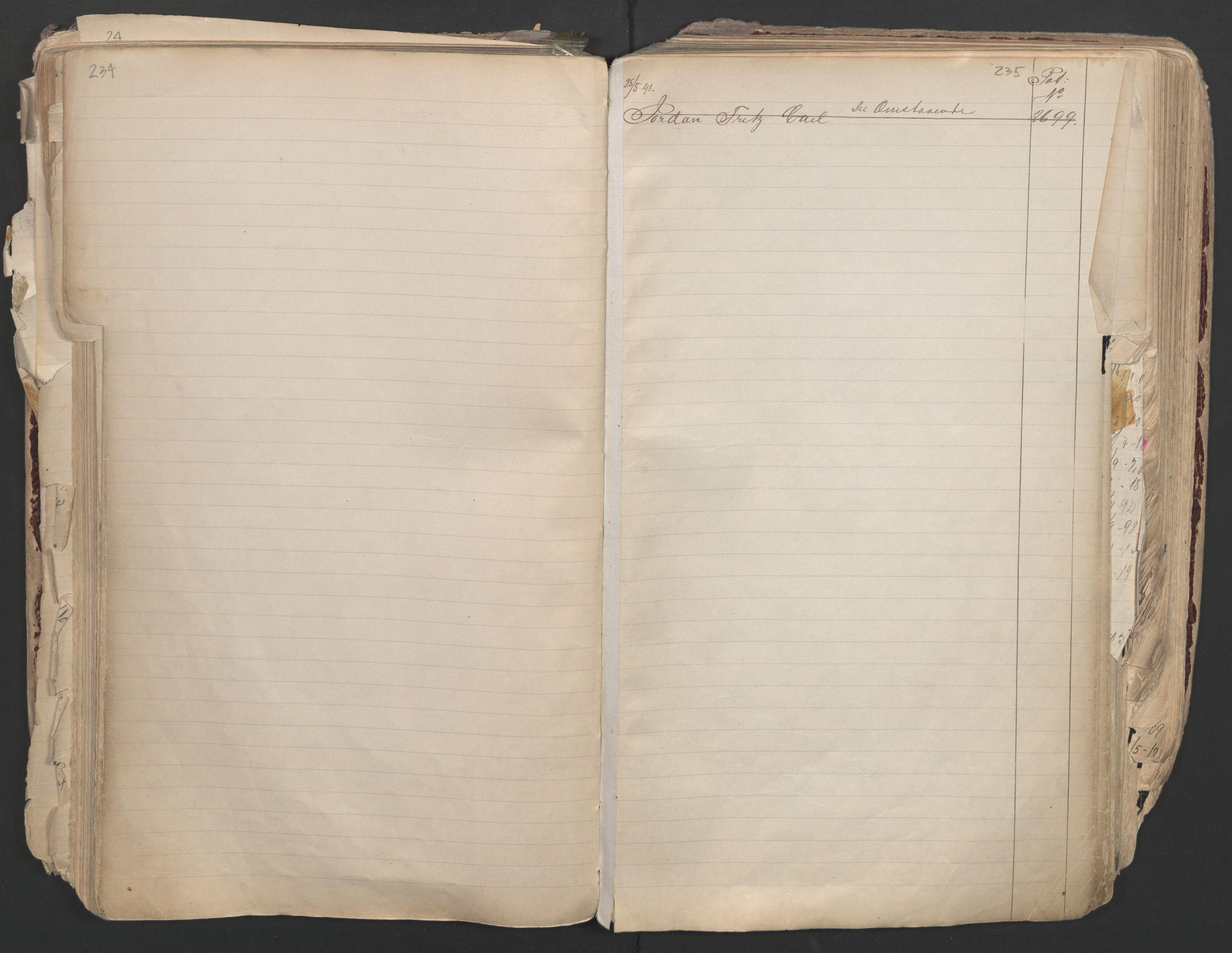 SAO, Oslo sjømannskontor, F/Fa/L0003: Register for Oslo mønstringskrets, 1891-1948, s. 234-235