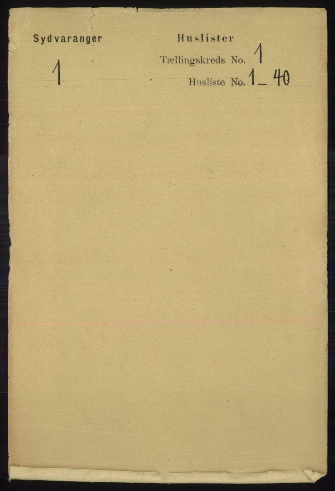 RA, Folketelling 1891 for 2030 Sør-Varanger herred, 1891, s. 20