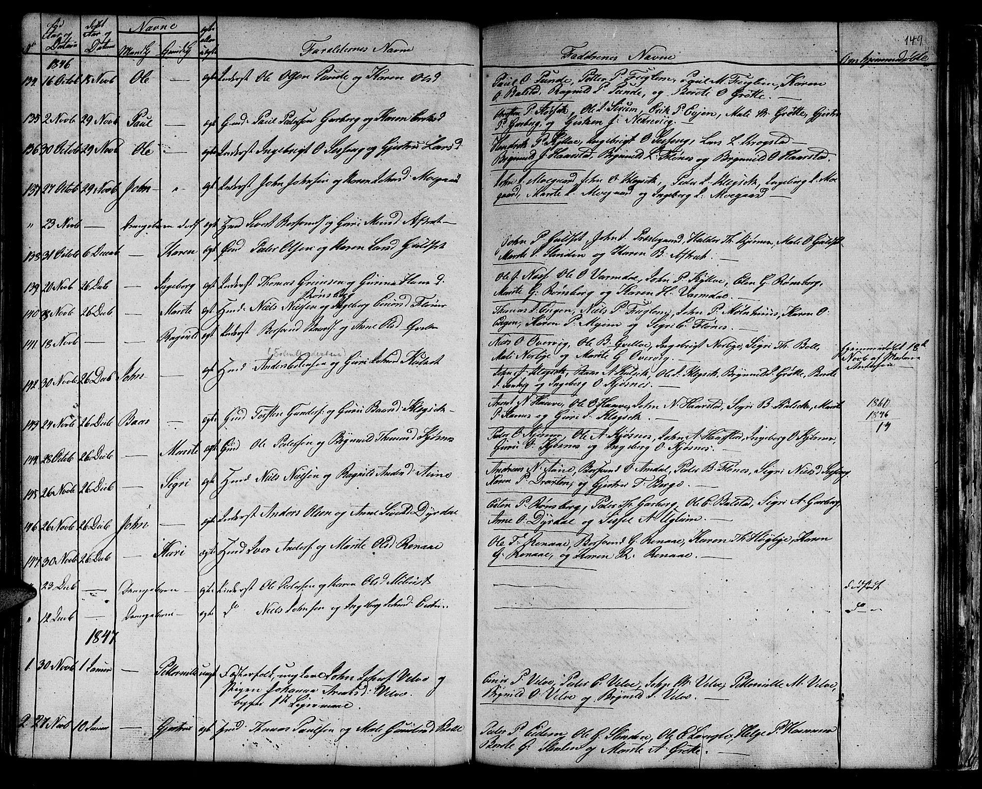 SAT, Ministerialprotokoller, klokkerbøker og fødselsregistre - Sør-Trøndelag, 695/L1154: Klokkerbok nr. 695C05, 1842-1858, s. 149